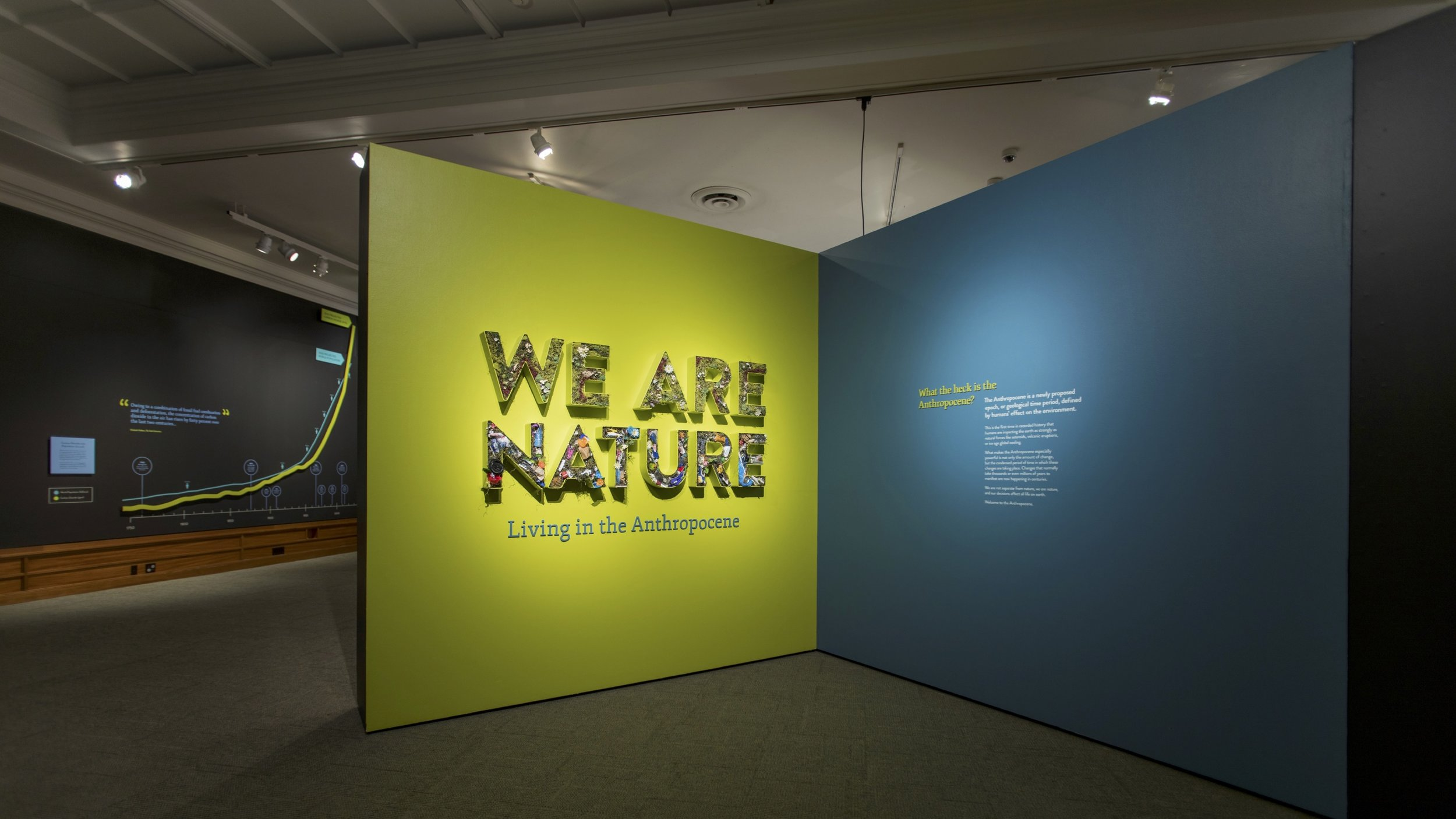 Entrance to the  We Are Nature  exhibit at the Carnegie Museum of Natural History, 2017. Image Credit: Author
