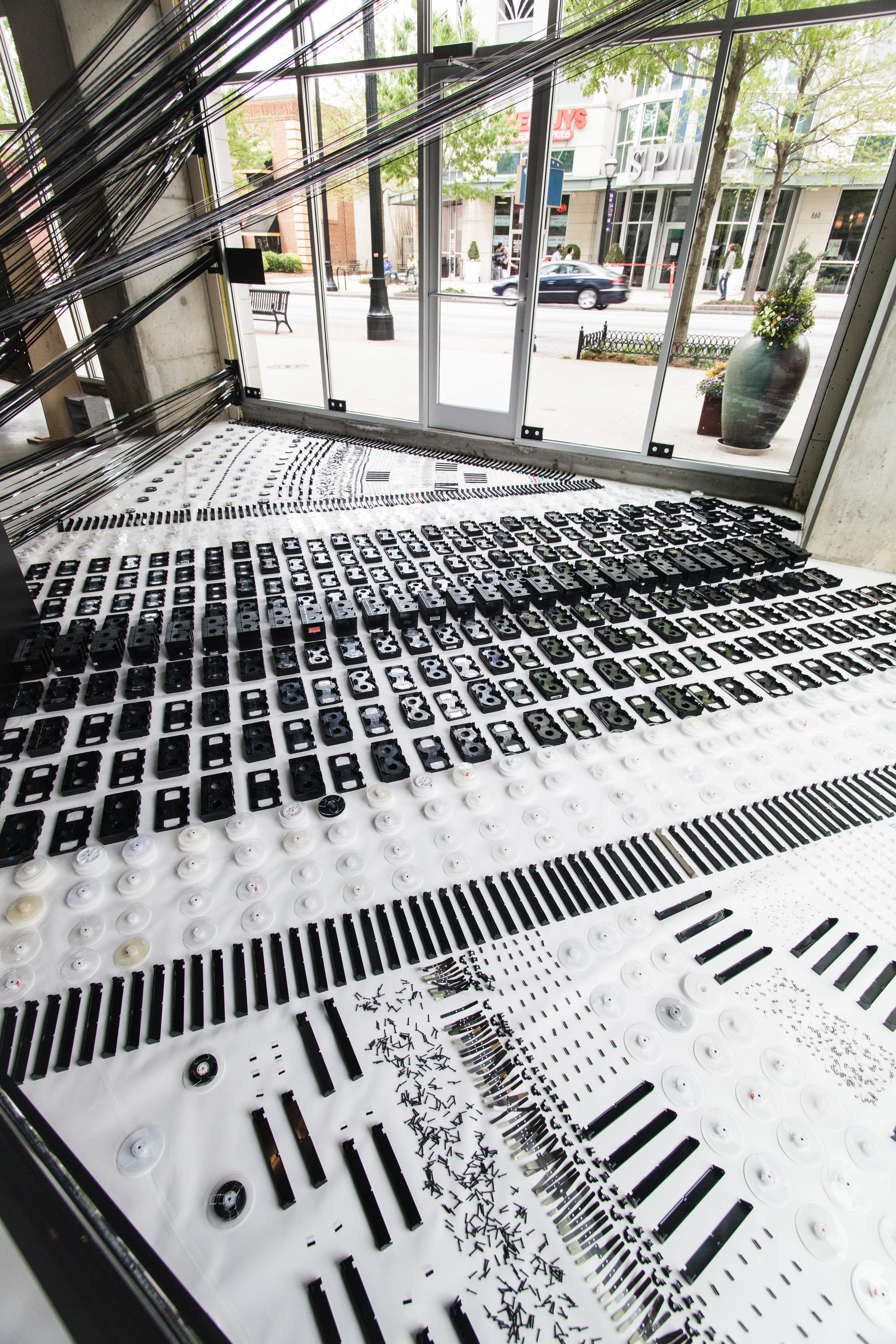 Urban Fronts Atlanta VHS Tapes Art Installation