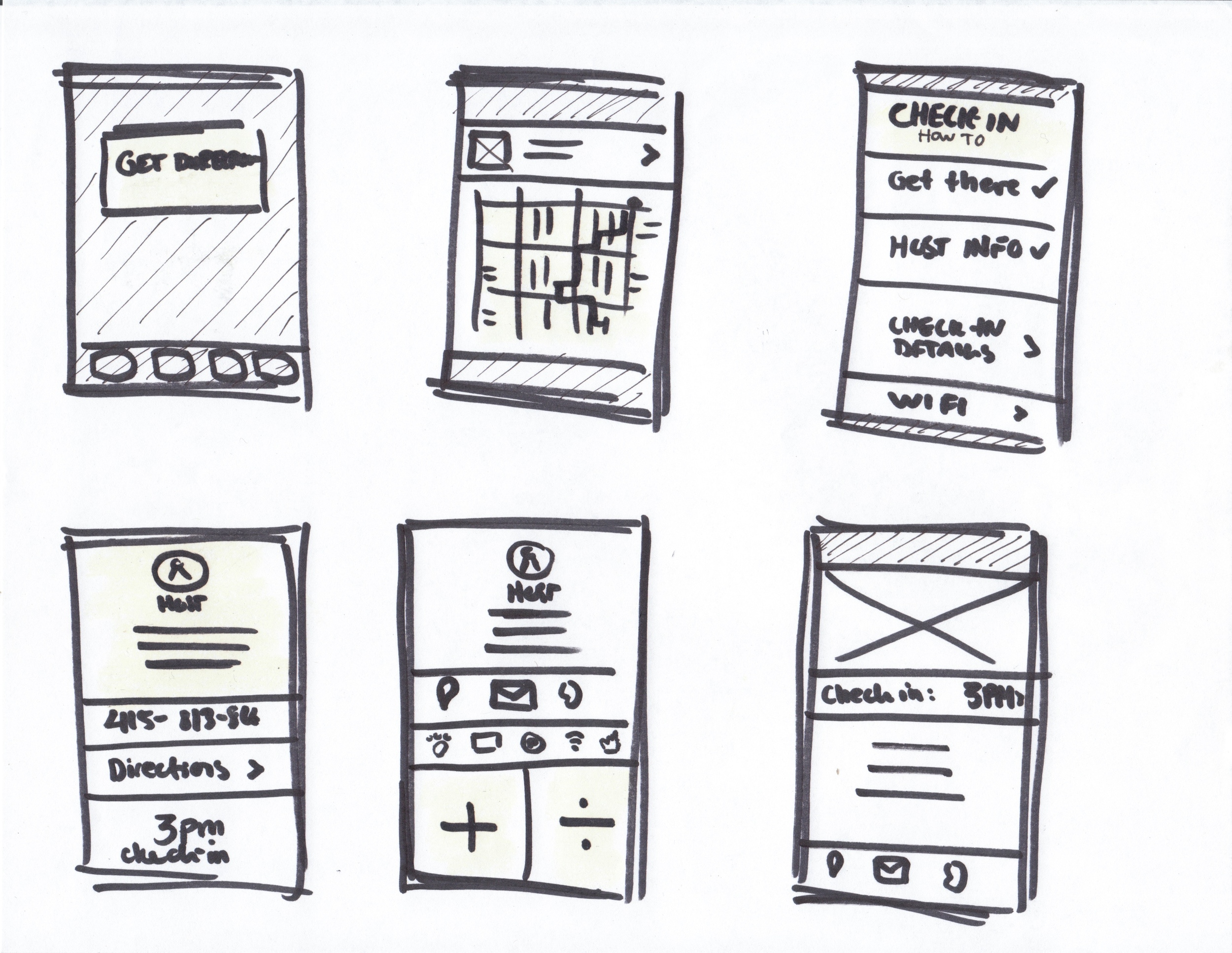 Quick sketching of 6 different ways the UI could look if designing this feature.