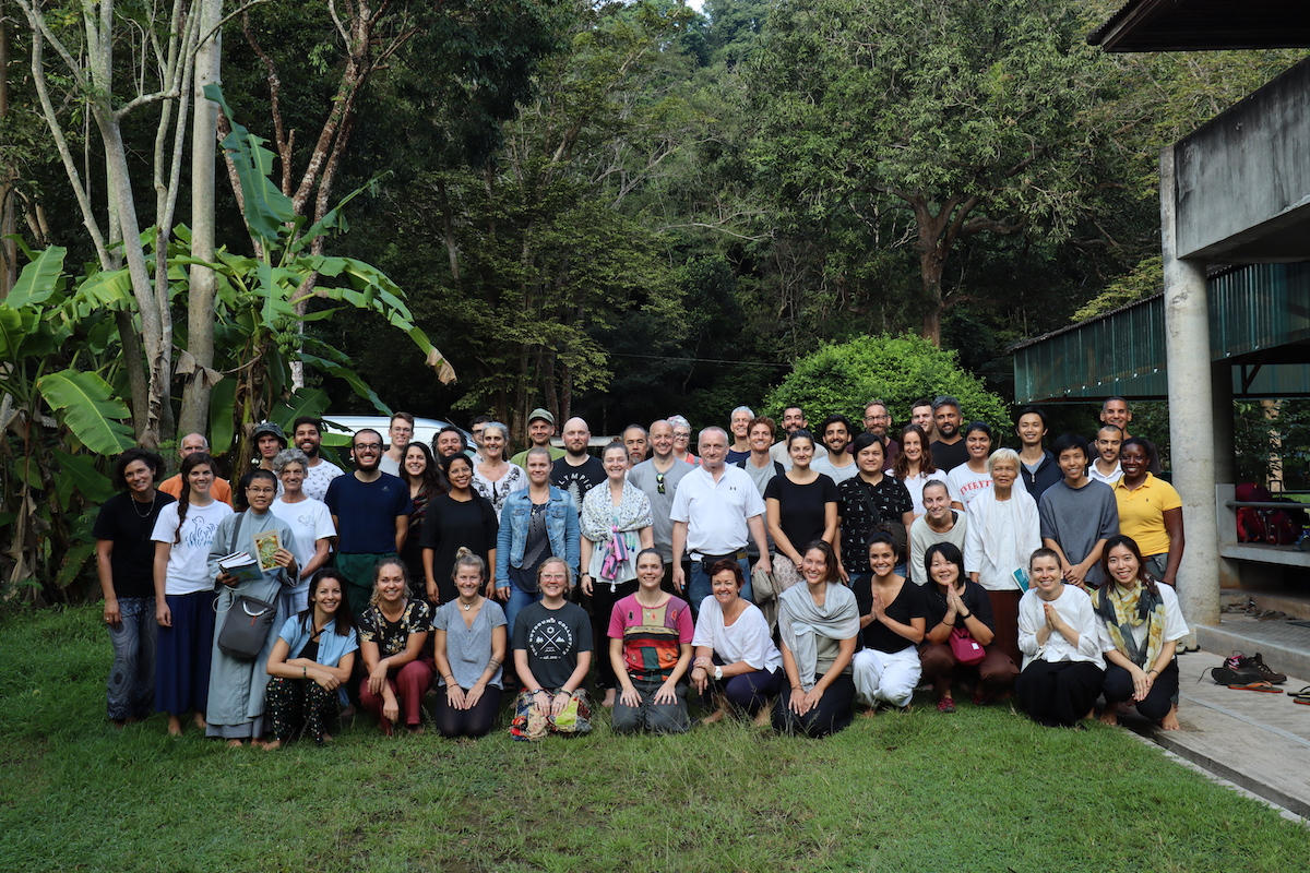 Group photo of us taken by Suan Mokkh staff.