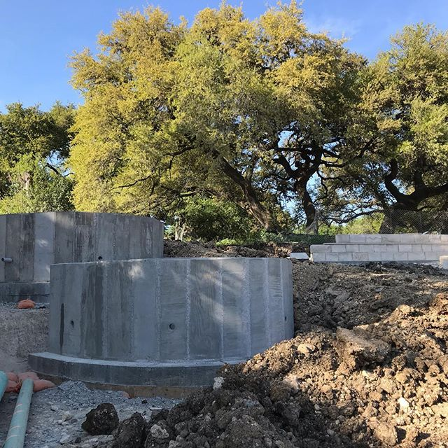 It was a gorgeous day for a site visit. You are looking at the beginning of some retaining walls and a mock up of a landscape wall, all soon to be the part of a walkway around a beautiful pond surrounded by live oak trees. Love seeing it come to life!  #sitevisit #wip #austin #landscapearchitecture
