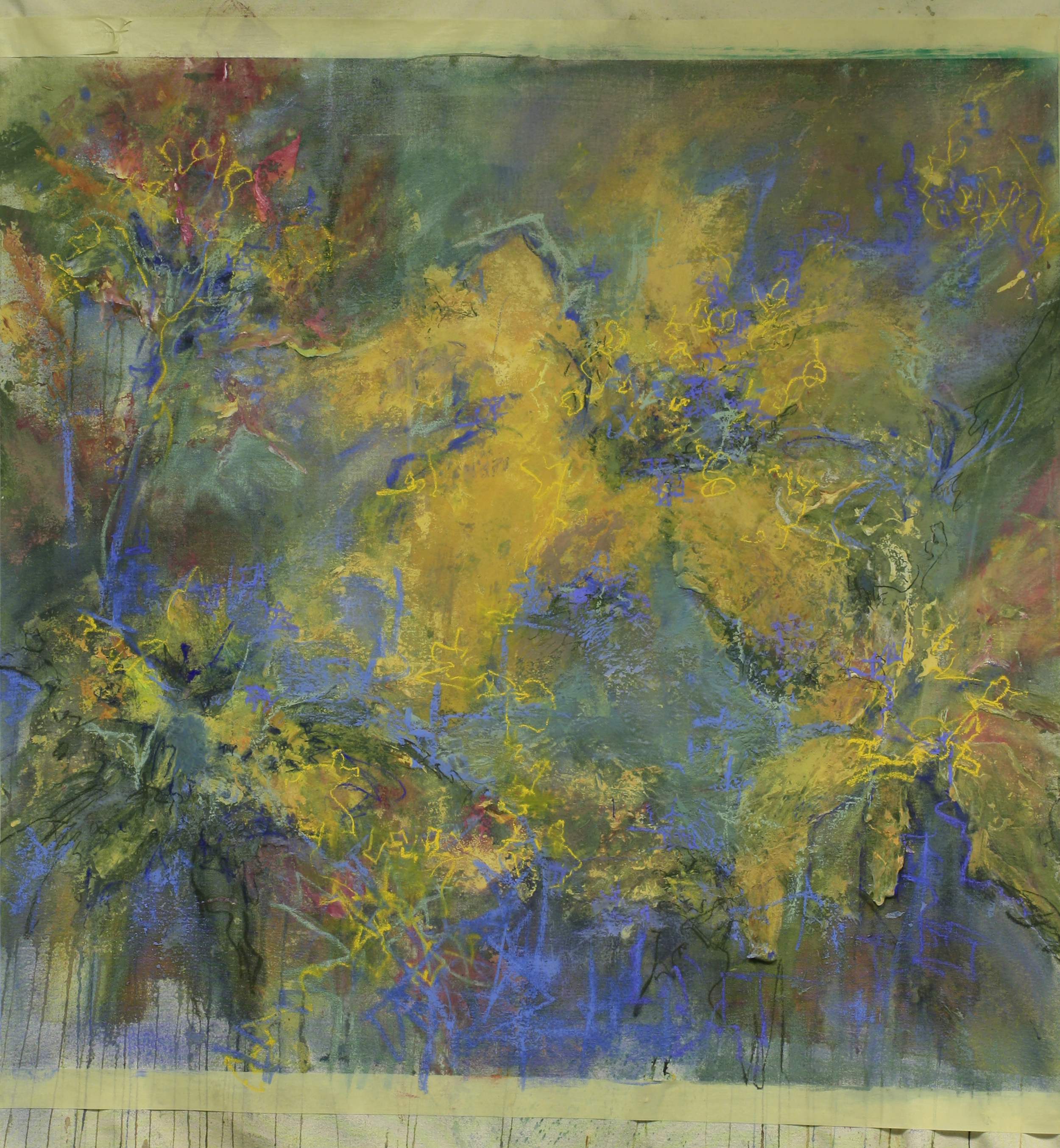 I started to see floral imagery....is that a surprise for me, a consummate lover and painter of flowers? Have I made this painting conform to the familiar imagery in my head or isthiswhere intuition takes me?