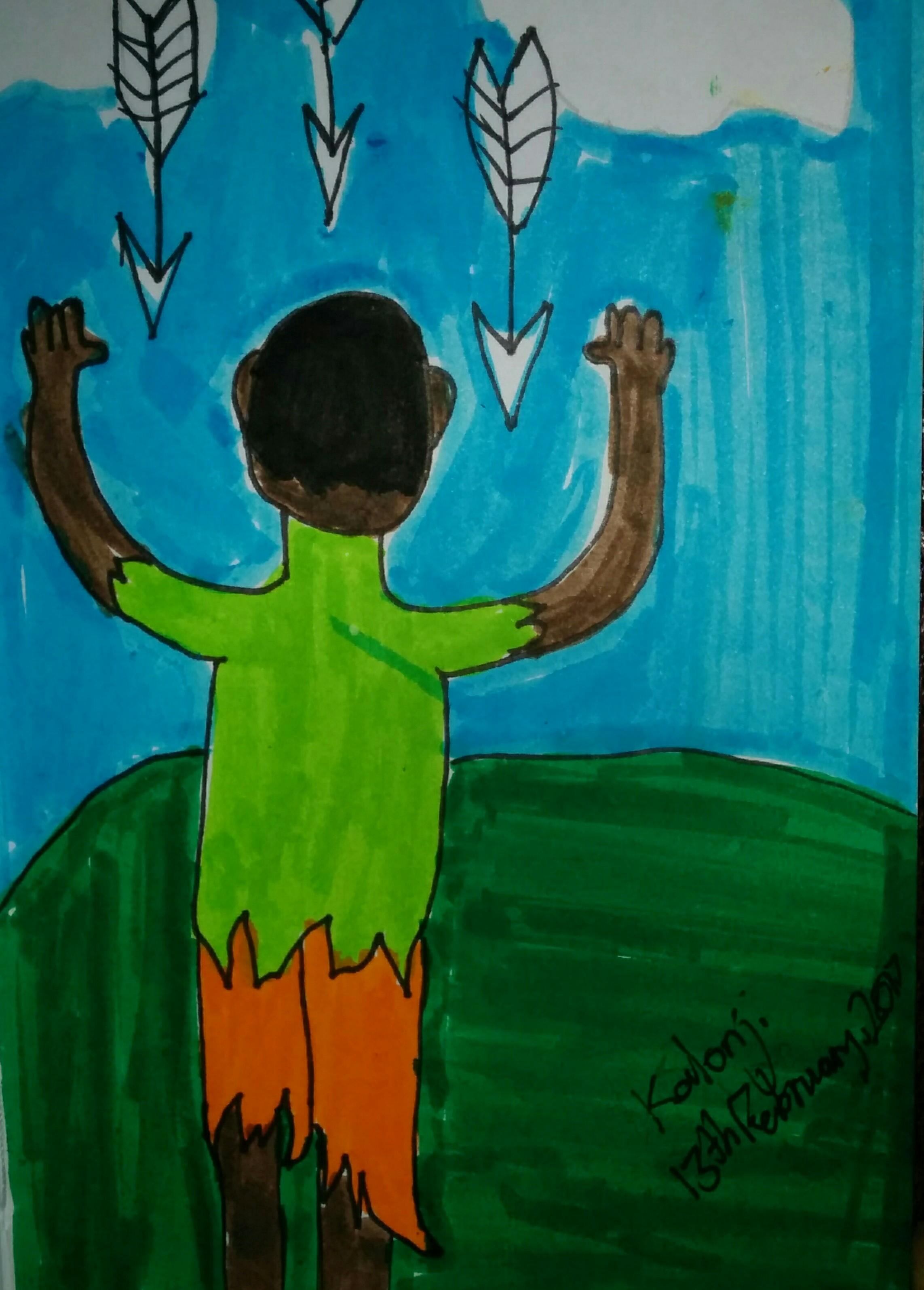 Kalonji's after-school sketch.