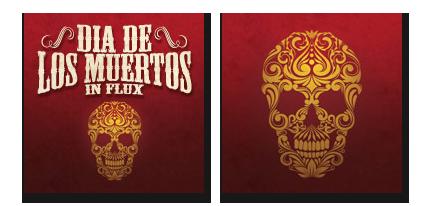 six leaf graphic design dia de los muertos halloween facebook profile