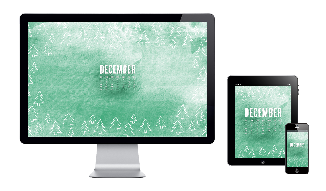 six leaf graphic design december wallpaper