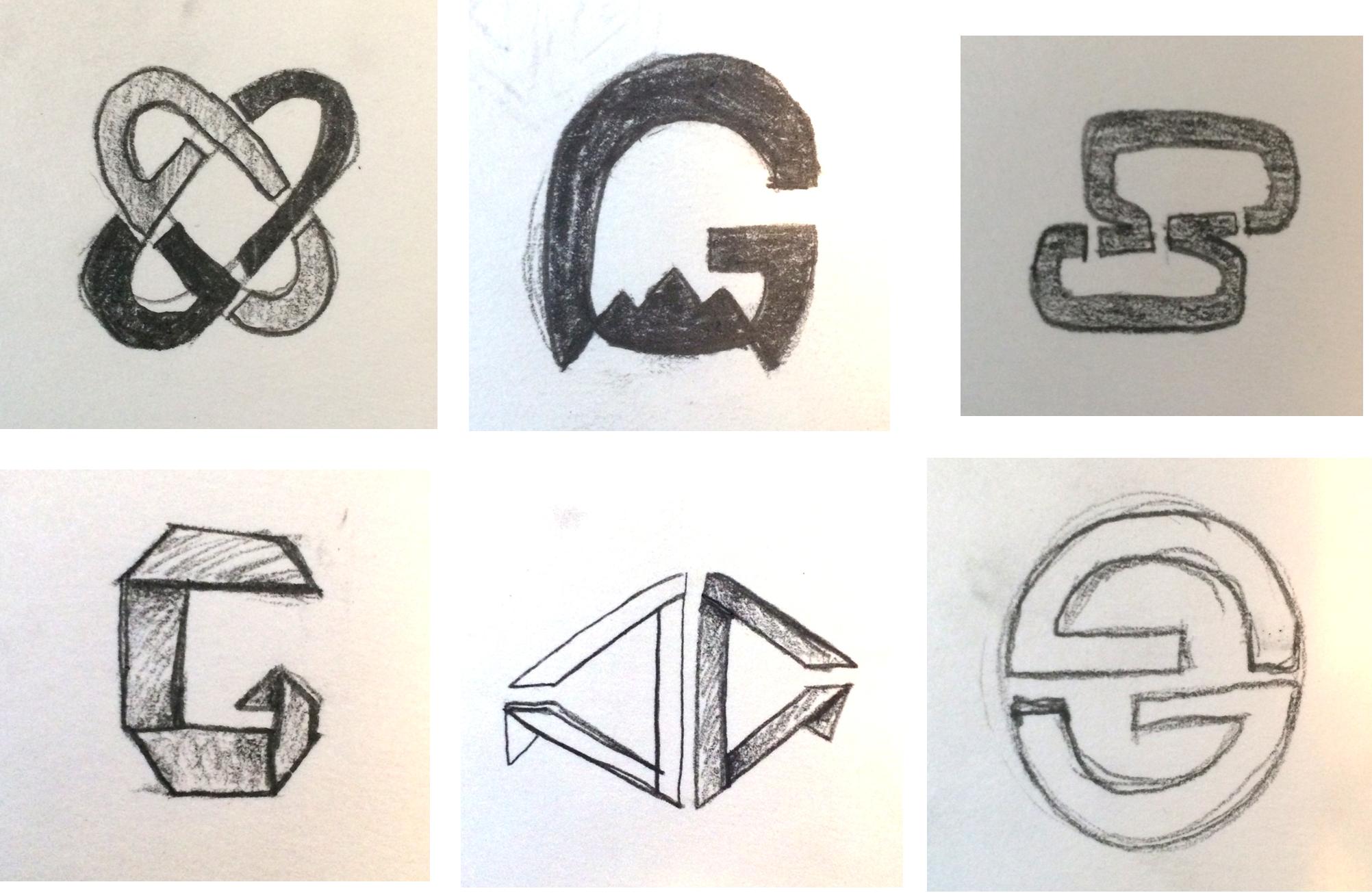 Logo concept sketches