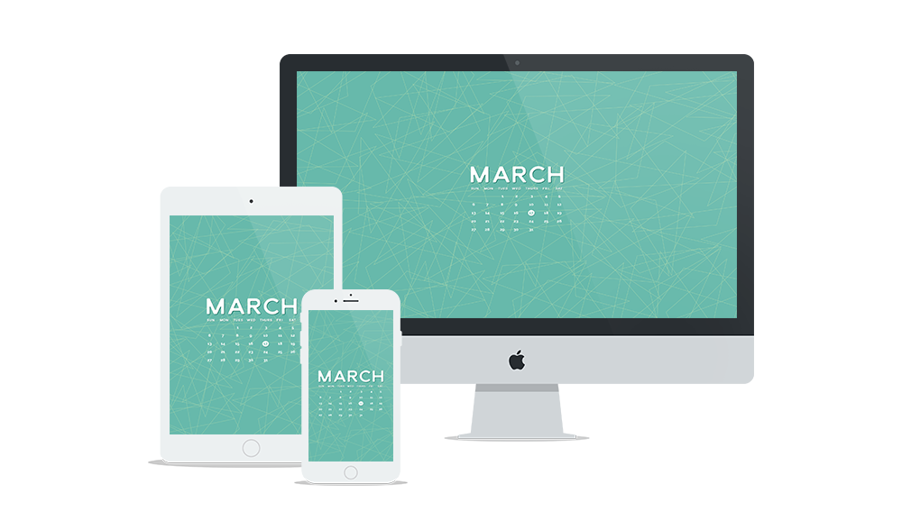 Free Wallpaper for March 2016 | Six Leaf Design | Freelance Graphic Designer