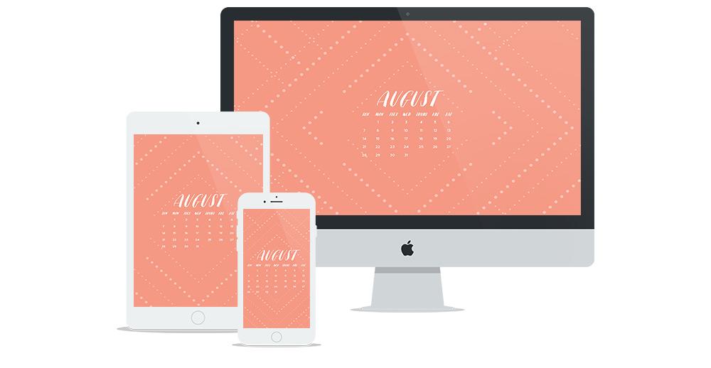 Free Wallpaper Design for August 2016 | Freelance Graphic Designer | Six Leaf Design | Denver, Colorado