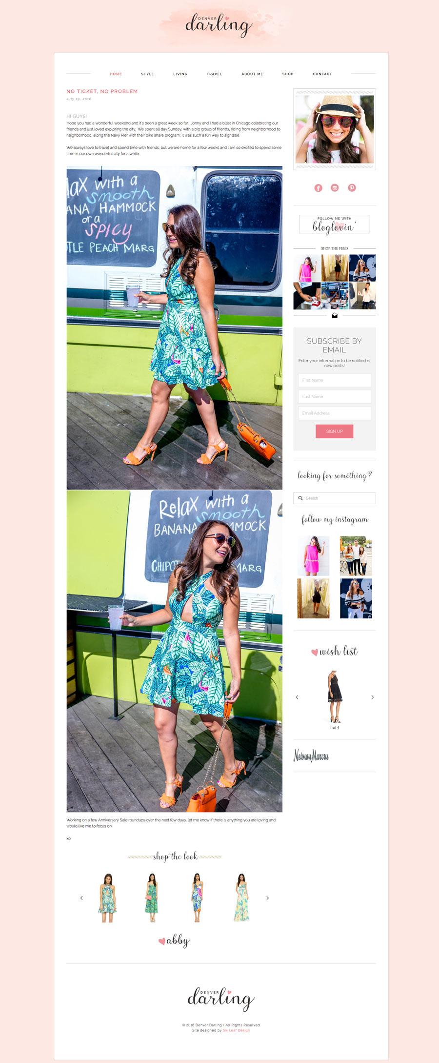 Denver Darling Website, Blog + Branding Design   | Six Leaf Design | Denver Freelance Graphic Designer