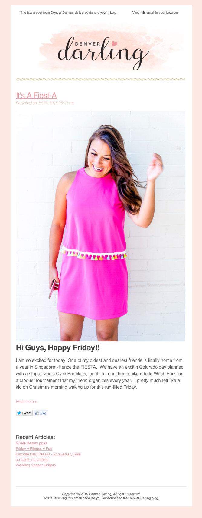 Denver Darling Branded Email Newsletter Design | Six Leaf Design | Denver Freelance Graphic Designer
