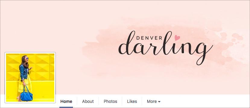Denver Darling Branded Facebook Social Media Cover | Six Leaf Design | Denver Freelance Graphic Designer