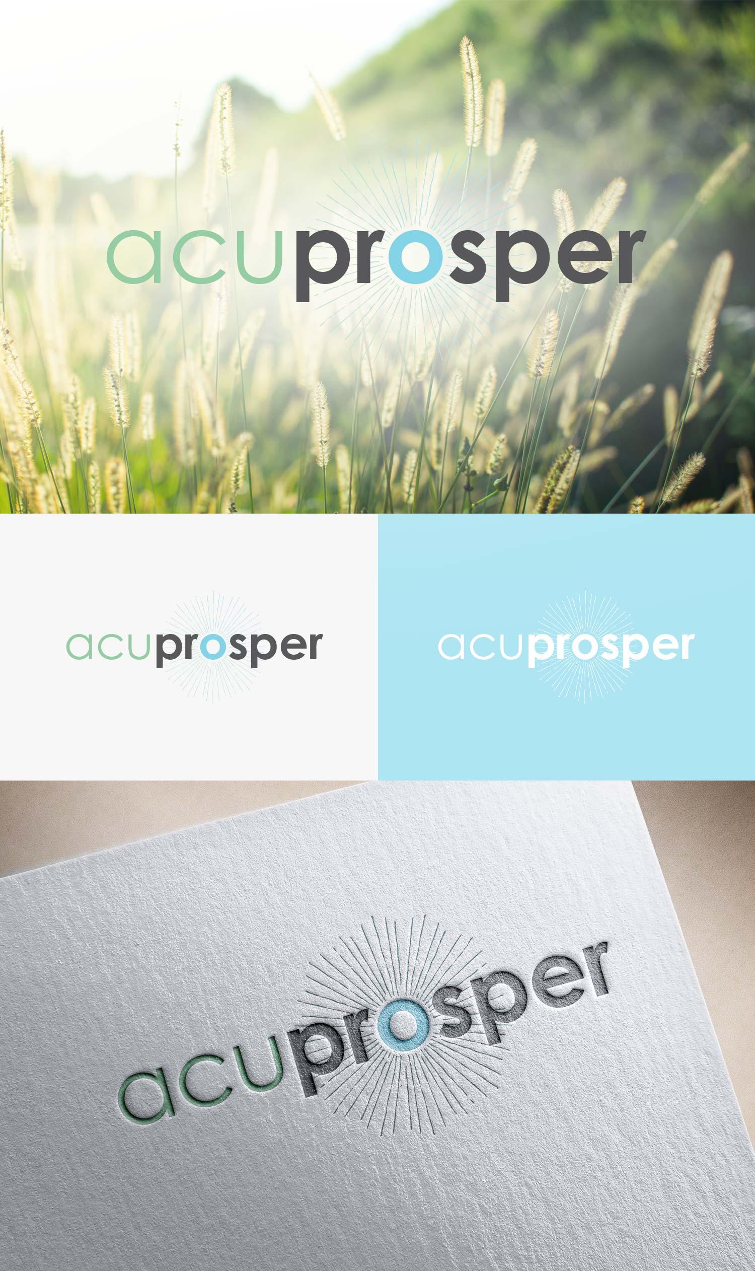 Logo Design for Acupuncture Online Business Course | Sunburst Logo Design | Denver, CO | Freelance Graphic Designer | Six Leaf Design