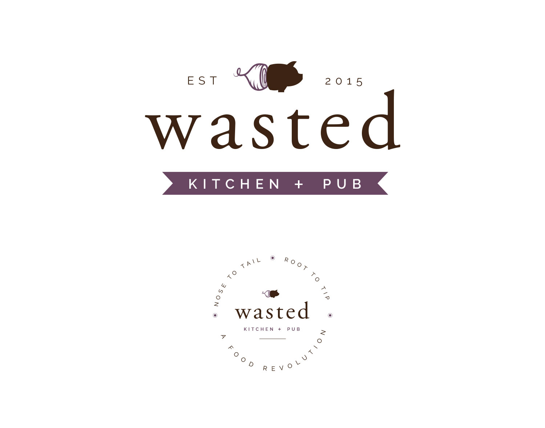 Pig and Onion Purple Logo Design for Rustic Farm to Table Restaurant | Freelance Graphic Designer | Denver, Colorado | Six Leaf Design
