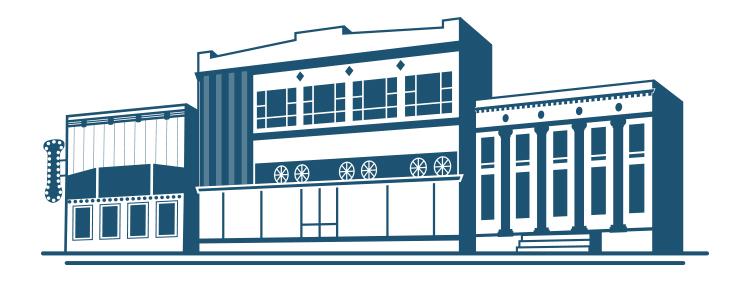 Custom brand illustration for Williston Downtowners Association