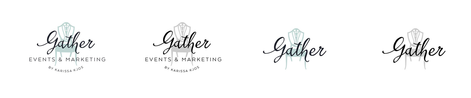 Gather Events & Marketing Logo | Mint Green Logo Design for Event Planning & Marketing Company with Chair Icon
