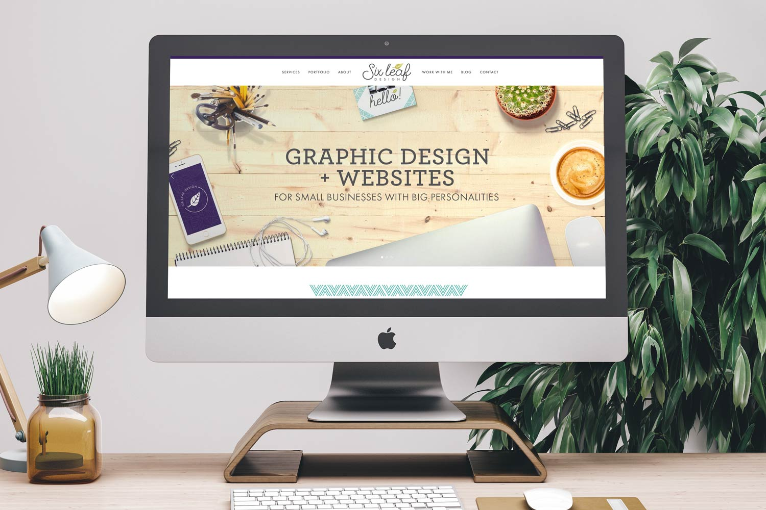 "The very first banner on my homepage says front and center ""Graphic Design + Websites for Small Businesses with Big Personalities"" - right away you know what I do and who I do it for."