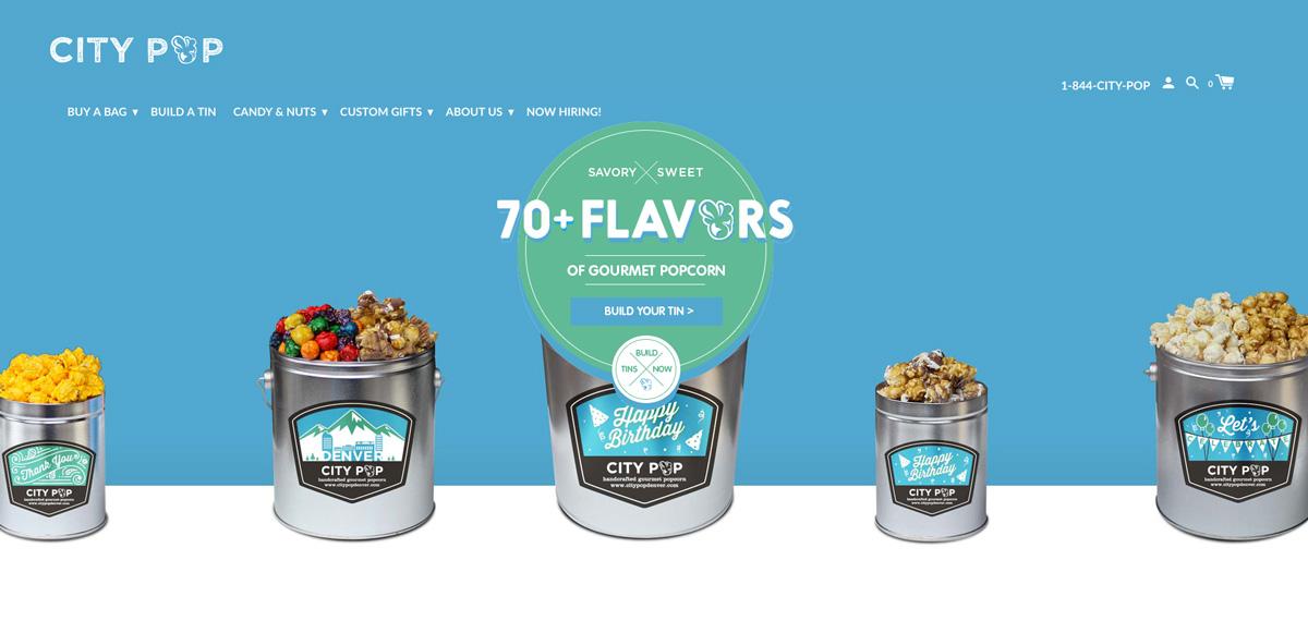 Popcorn Tin Label Design Featuring Custom Illustrations