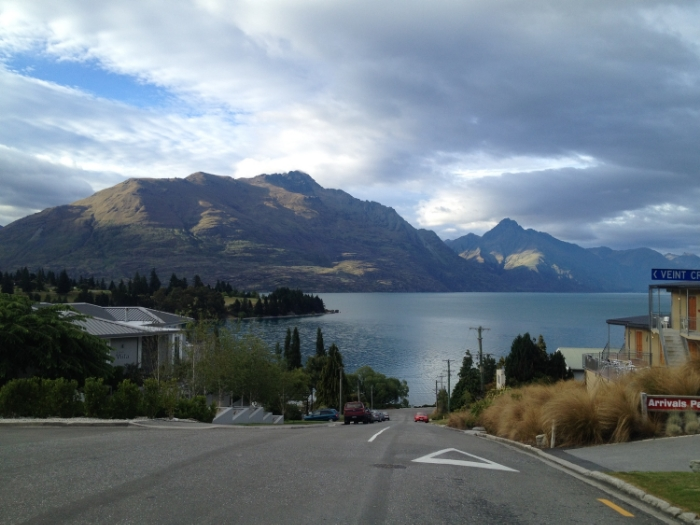Lake Wakatipu in Queenstown New Zealand