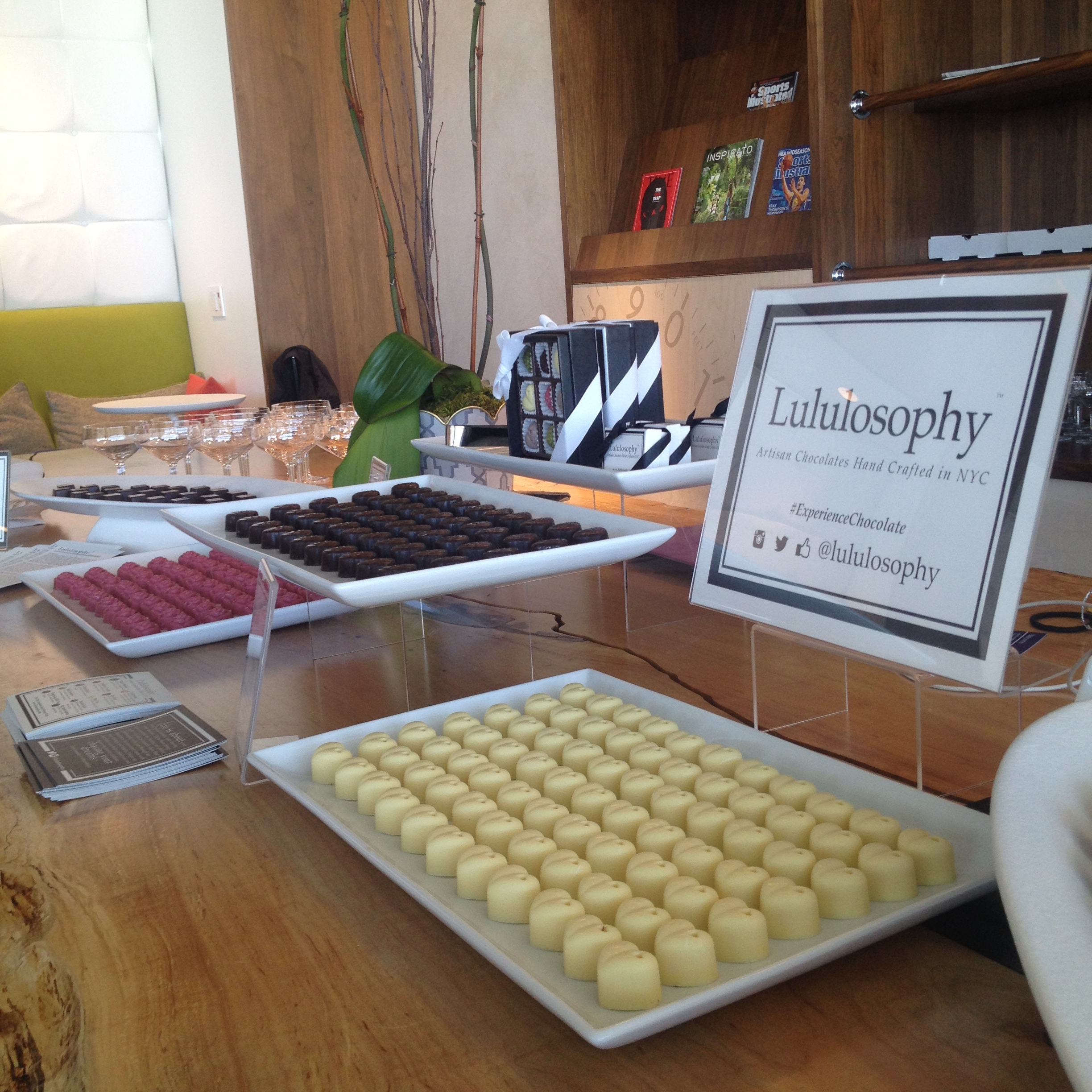 Chocolate Tasting in the American Express Airport Lounge in Las Vegas