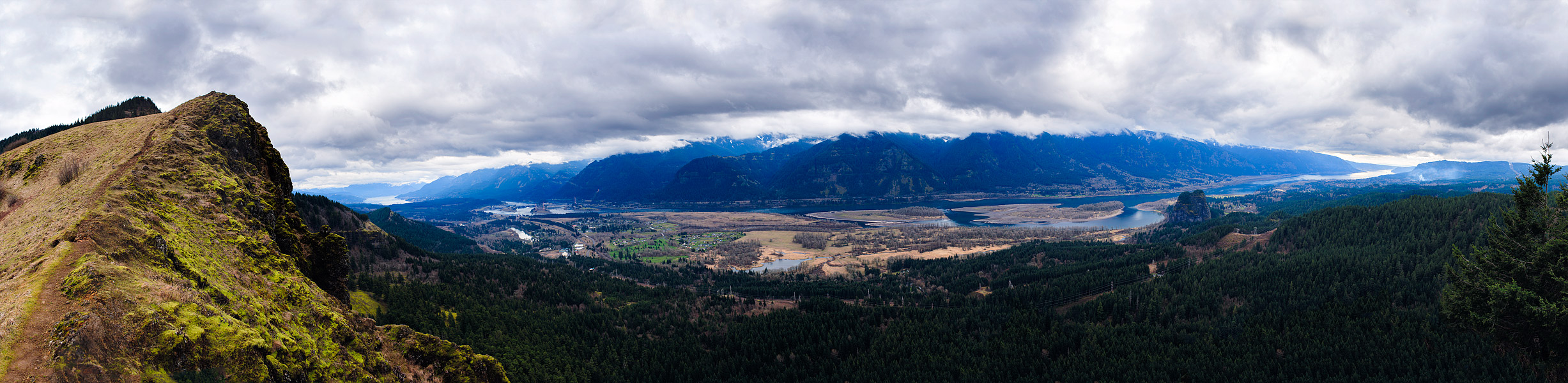 View of Beacon Rock and the Columbia River Gorge