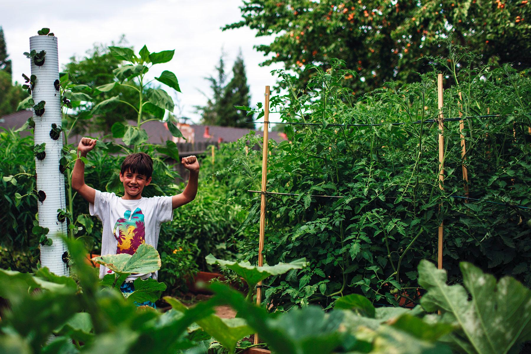 Proud of their garden