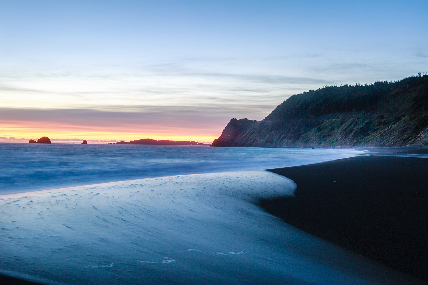 Waves on the beach at Humbug Mountain, Oregon
