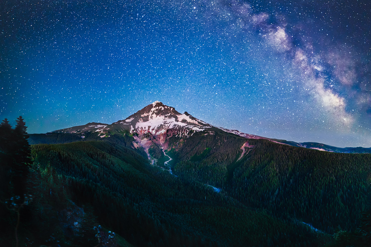 Milky Way above Mt Hood, Oregon from Bald Mountain
