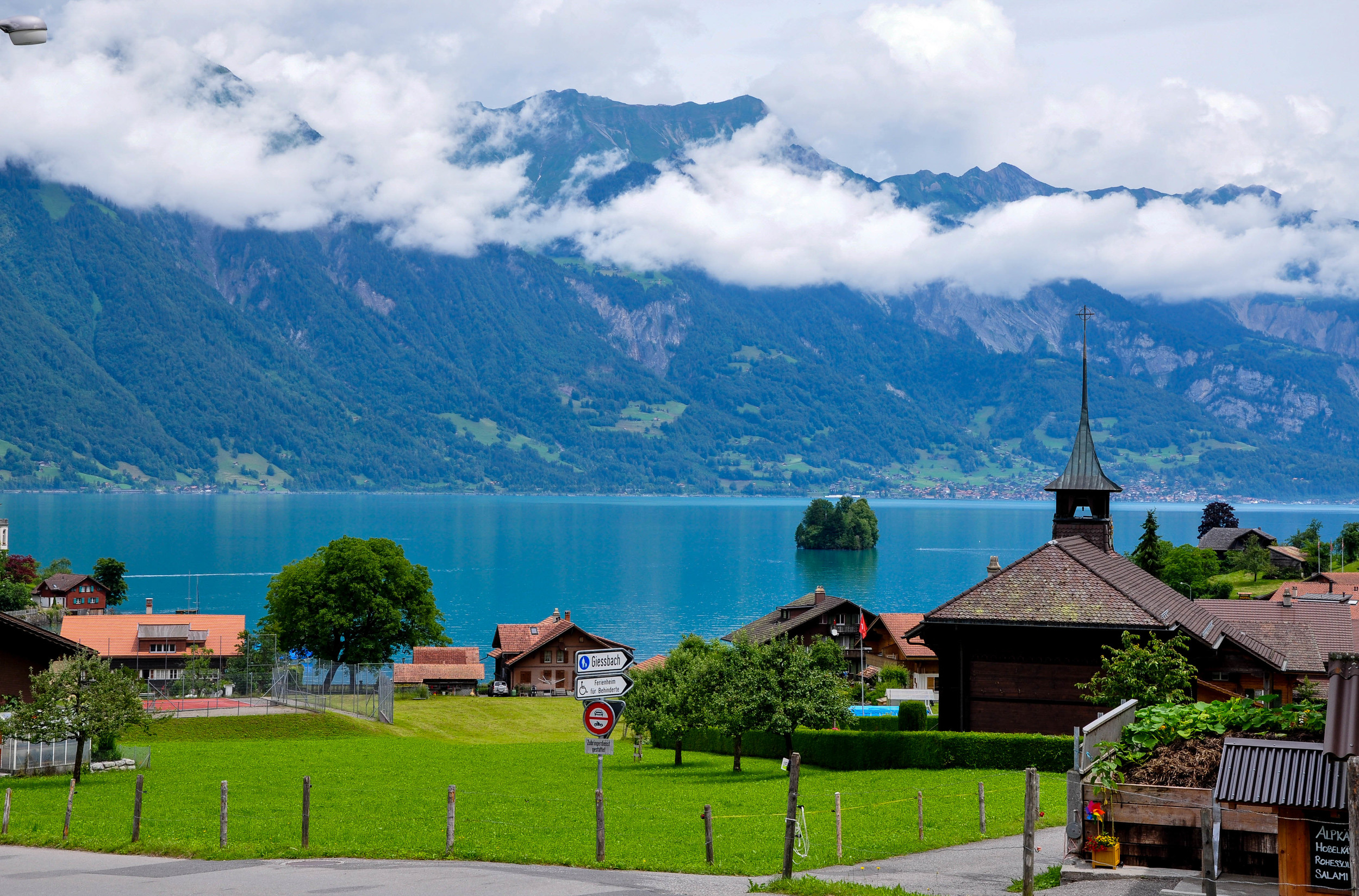 View of Lake Brienz from Iseltwald  ©Copyright 2015 Bridget Barnes