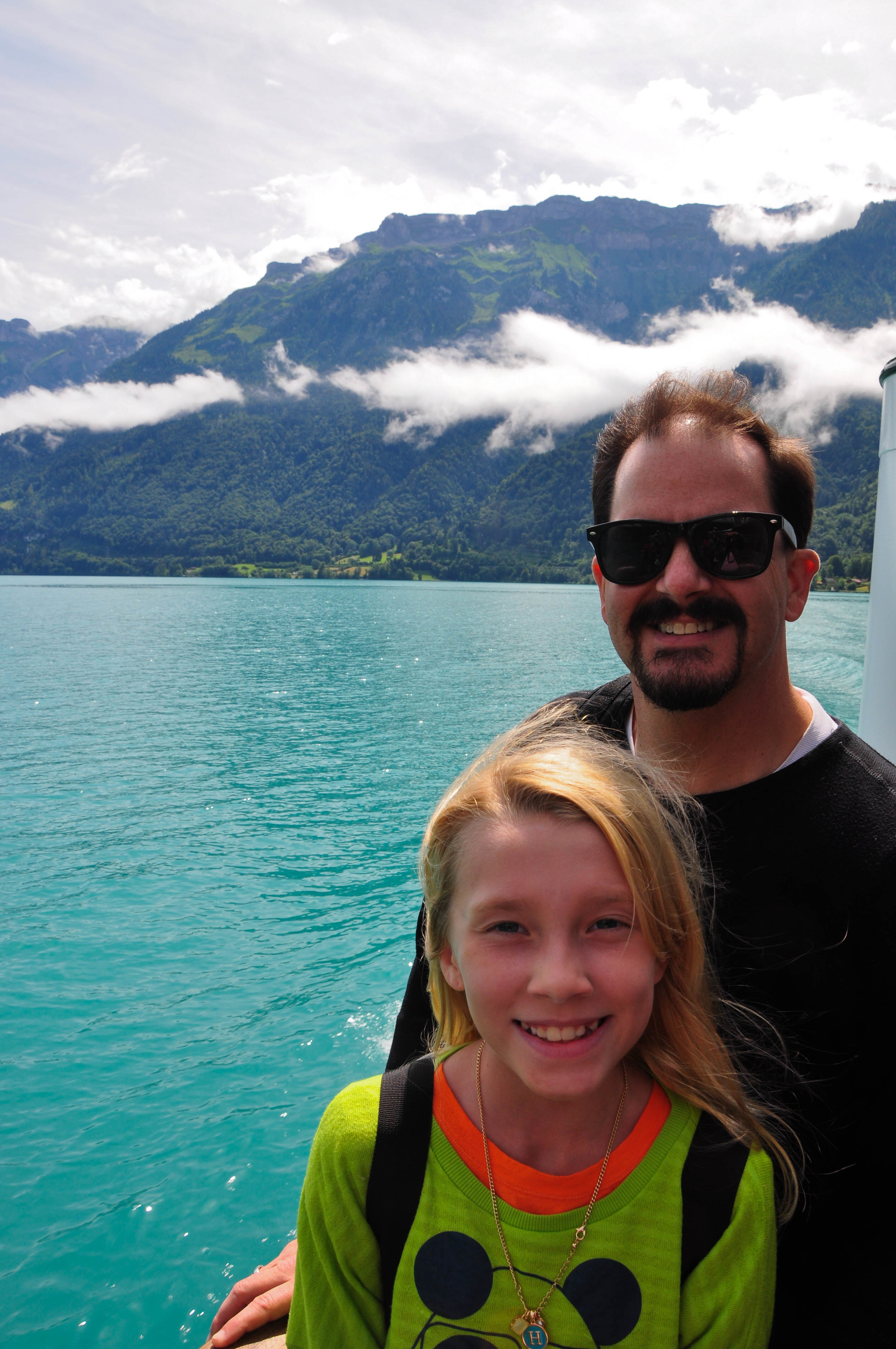 The Girl and the Man on Lake Brienz  ©Copyright 2015 Bridget Barnes