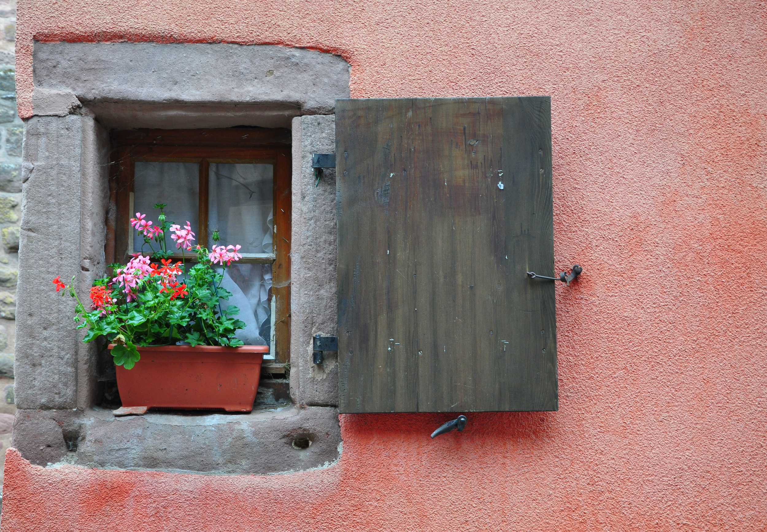 Window in Riquewihr  ©Copyright 2015 Bridget Barnes