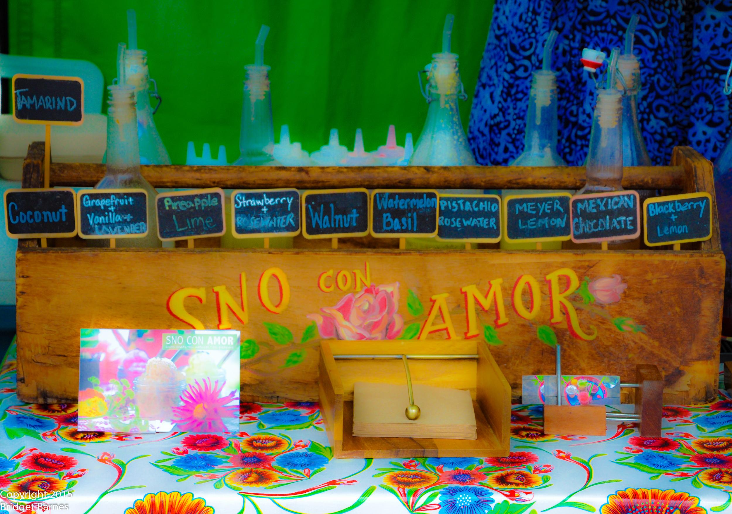 Sno Con Amor...Some of the best snow cones you'll ever taste!  ©Copyright 2015 Bridget Barnes