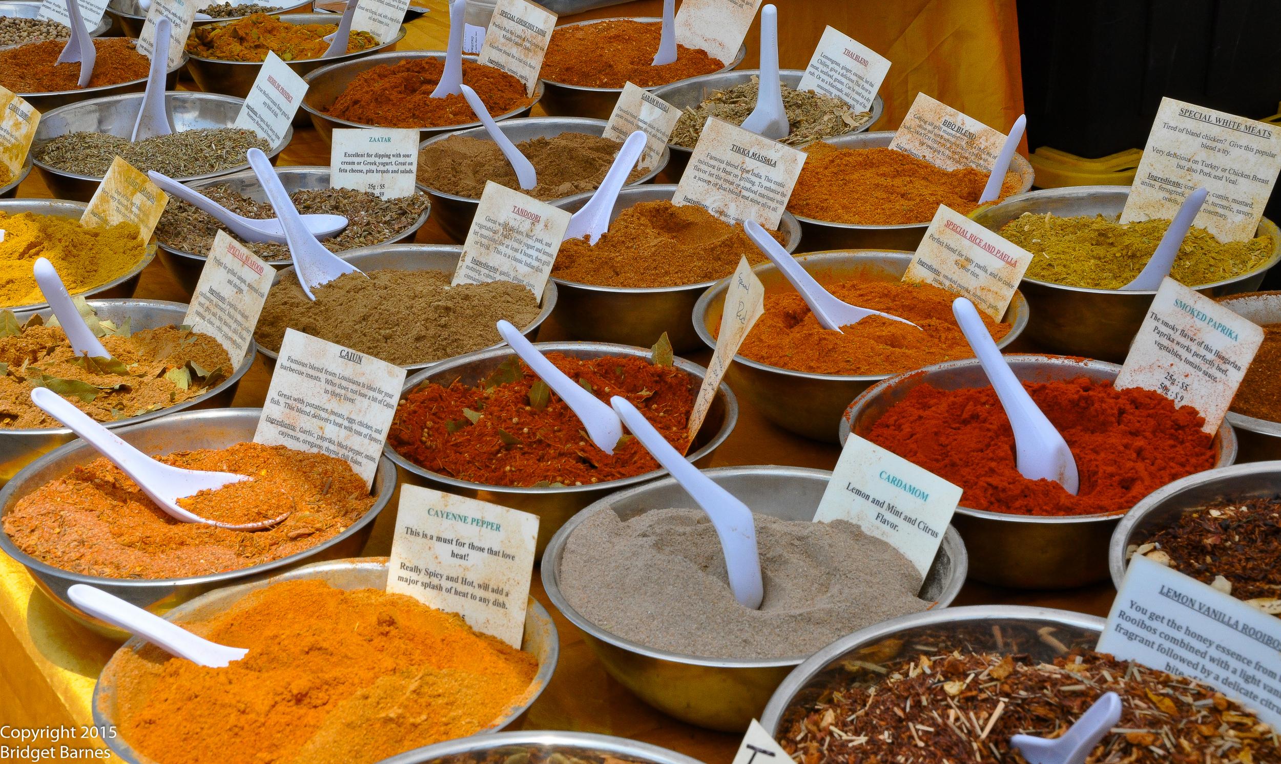 Spices courtesy of World Flavorz  ©Copyright 2015 Bridget Barnes