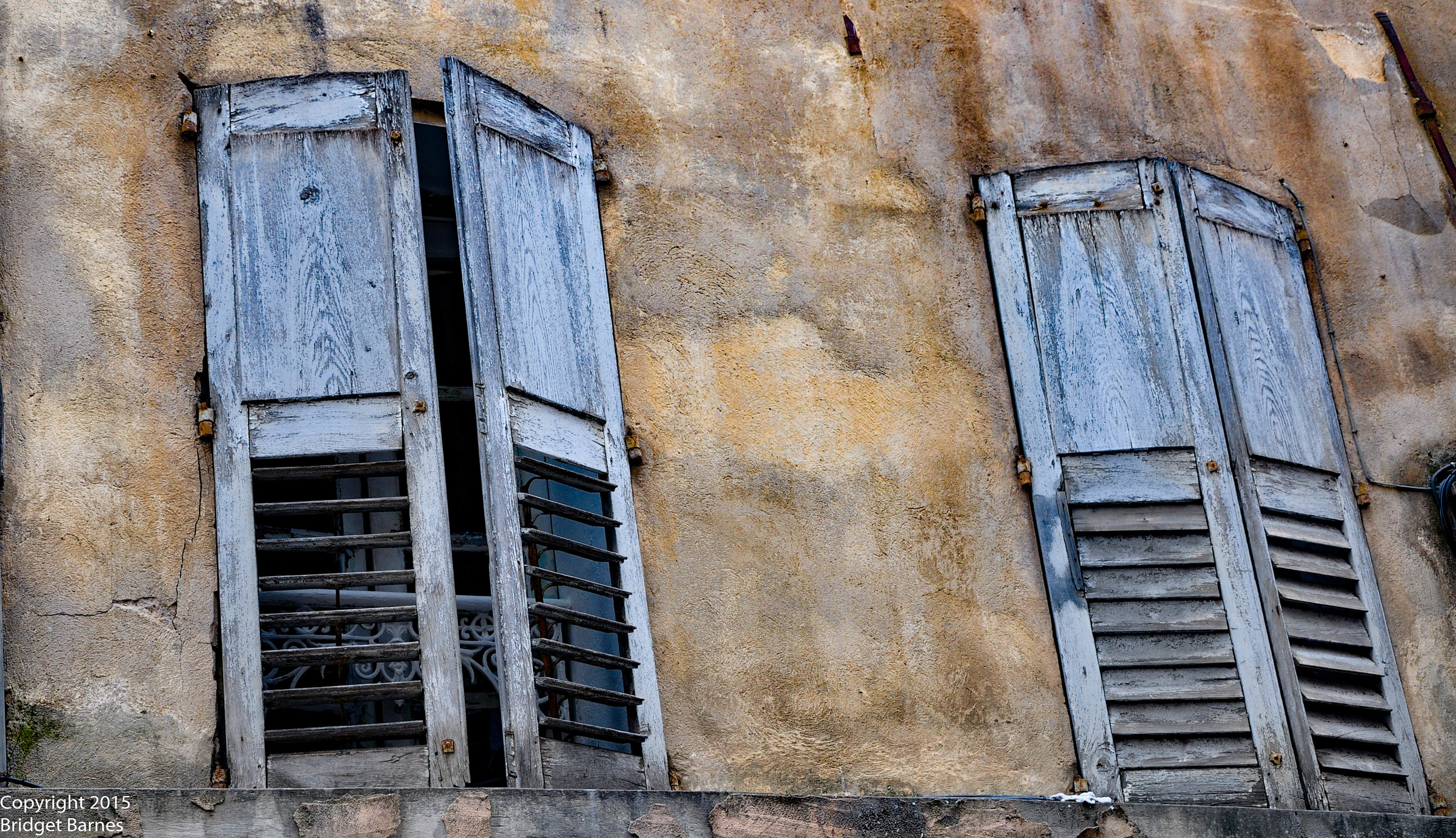 Aged Shutters in Grasse, France