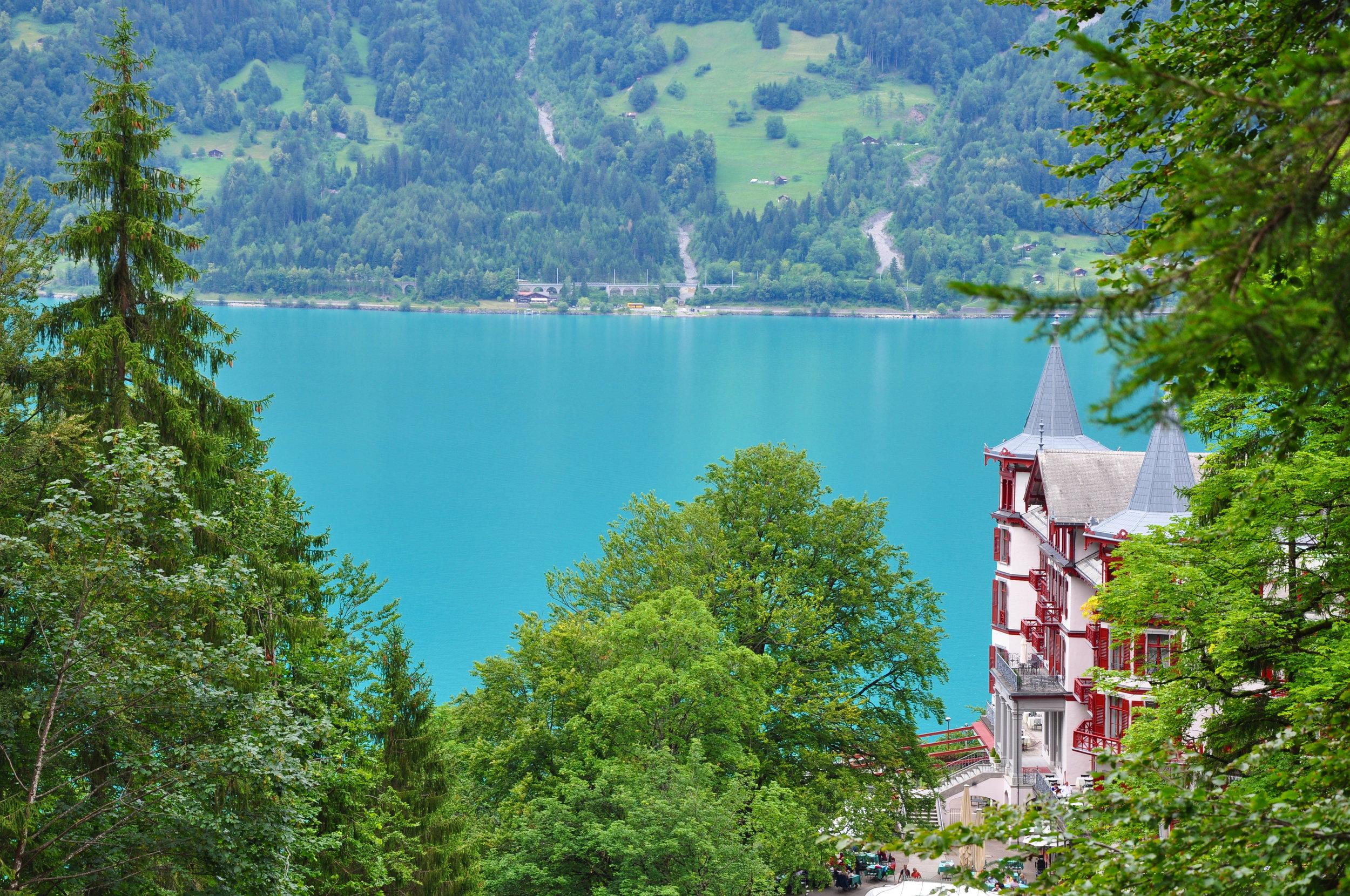 Giessbach Falls on Lake Brienz near Interlaken, Switzerland