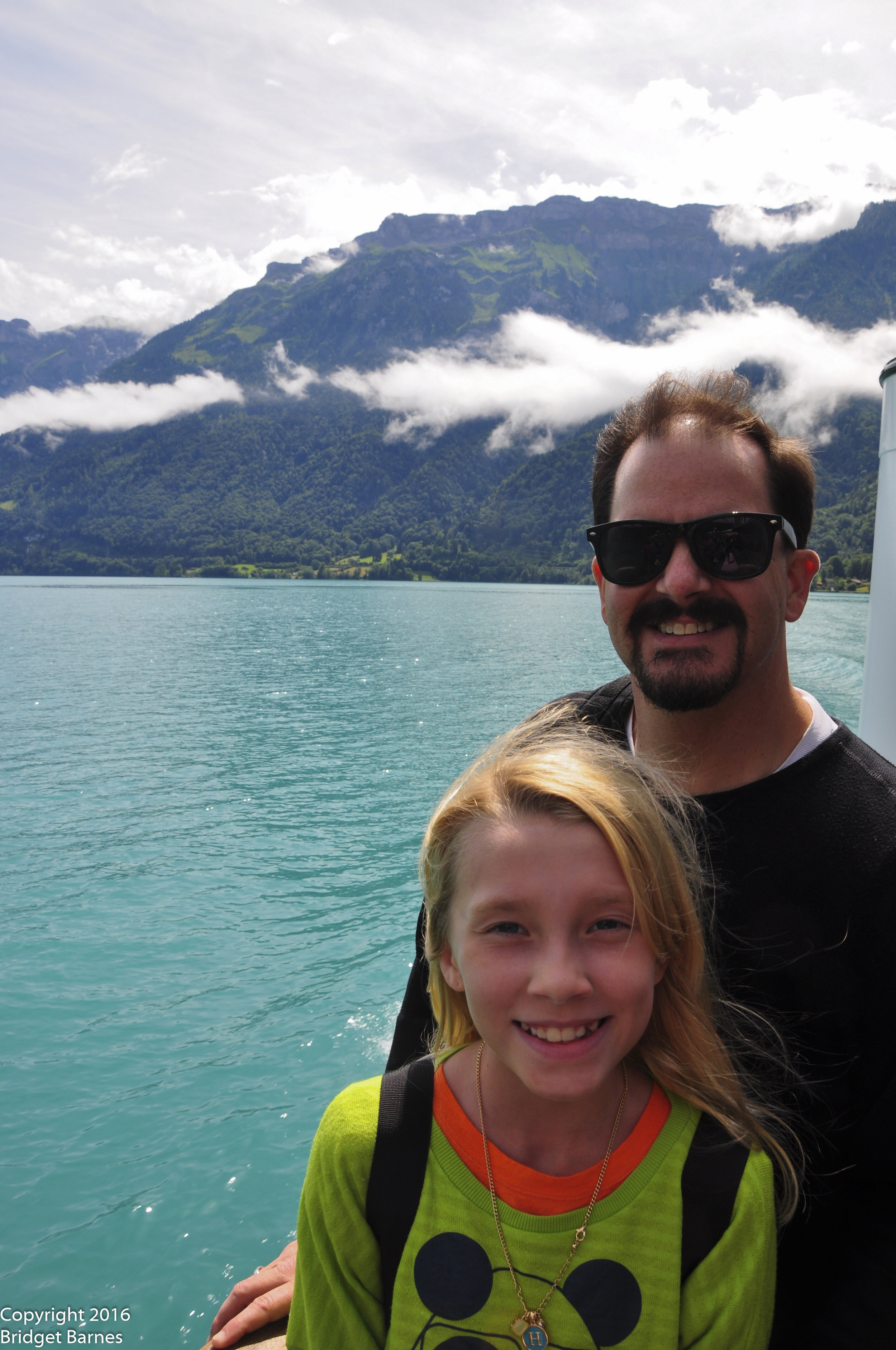 The Girl and the Man on Lake Brienz