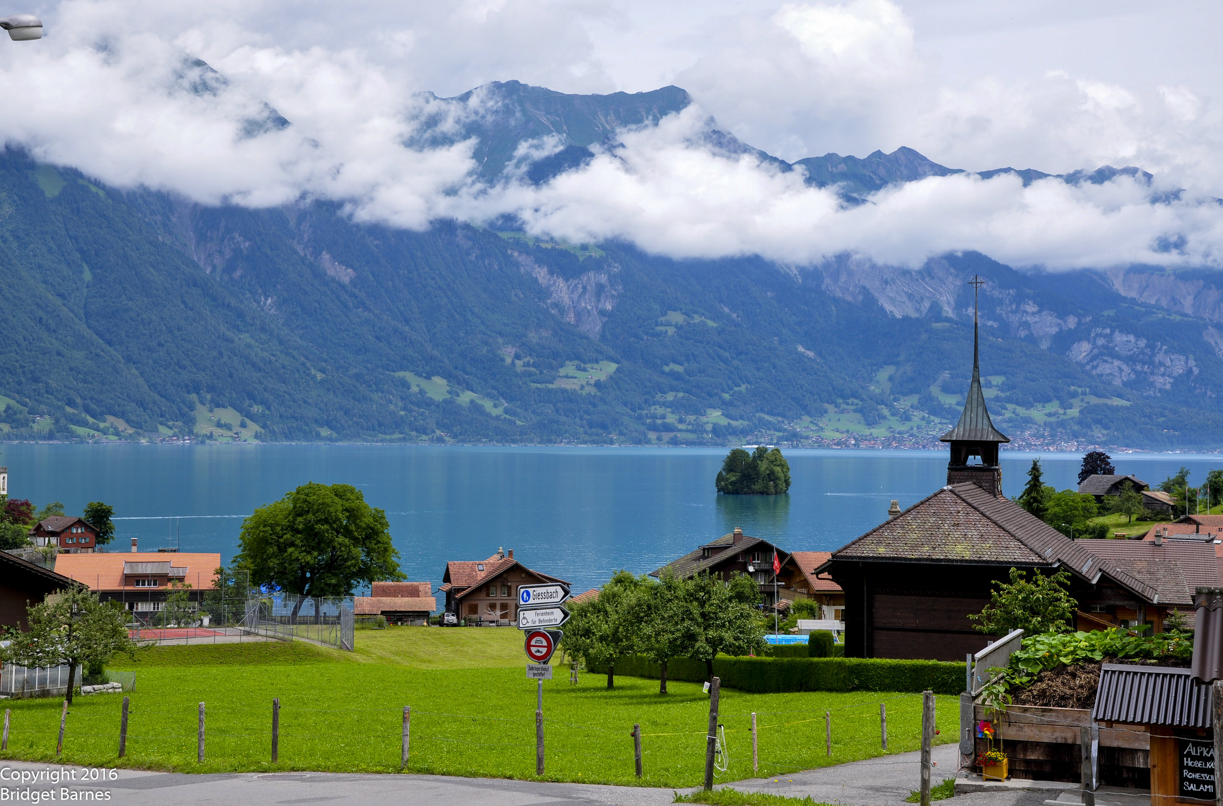 A view of Iseltwald on Lake Brienz