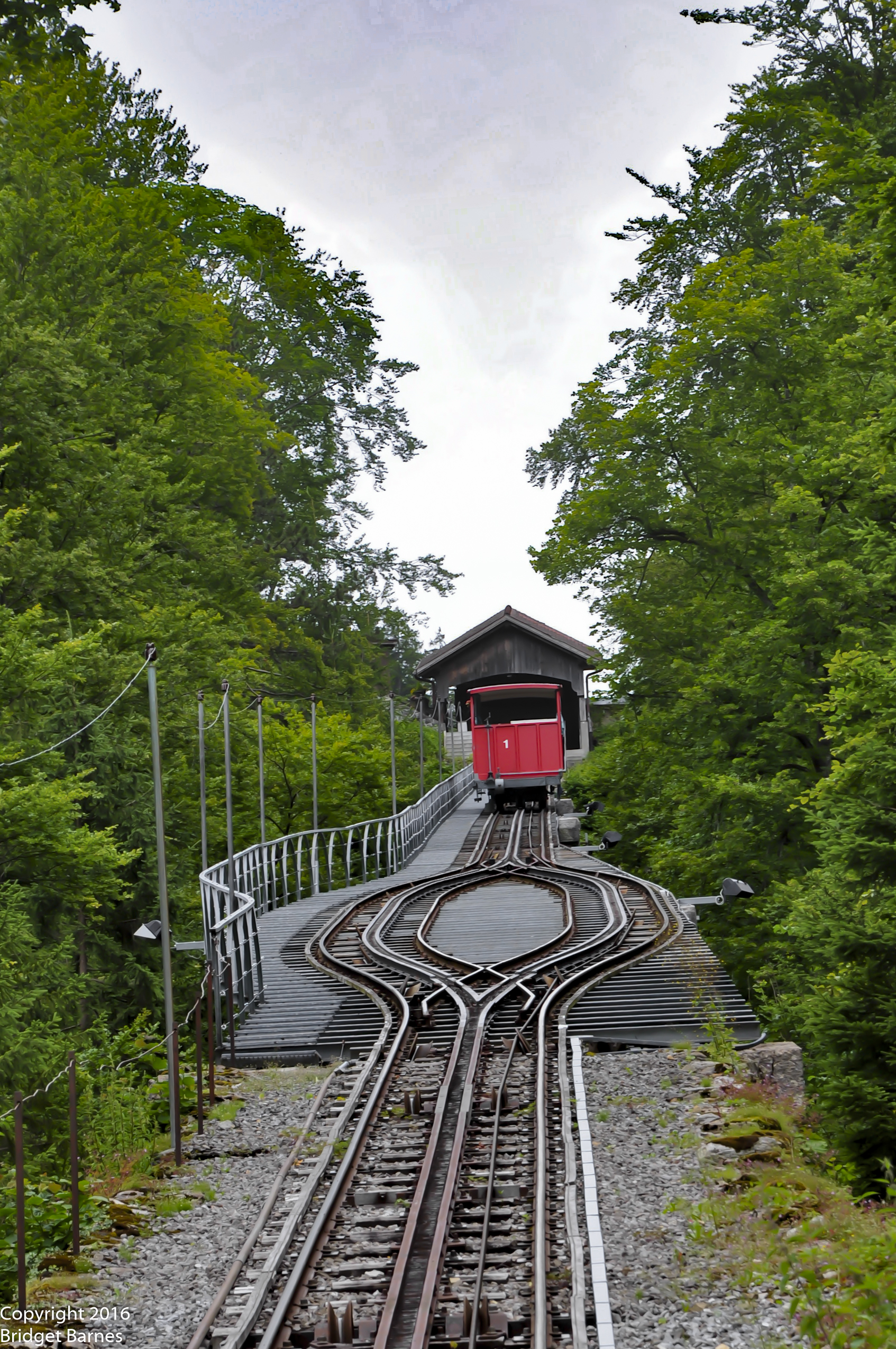 The funicular to the Grandhotel Giessbach and Giessbach Falls