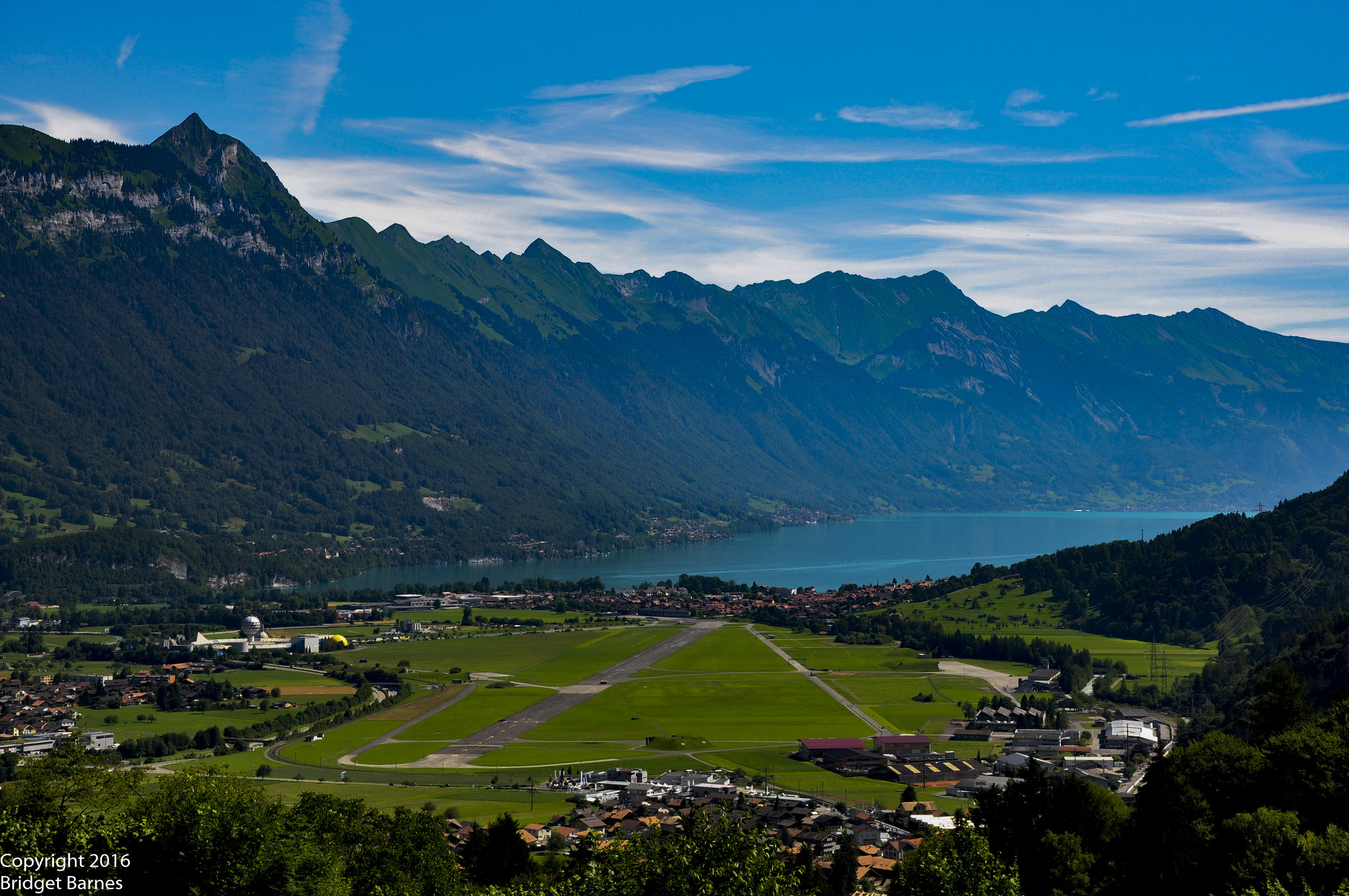 The view of Interlaken and Lake Brienz from our drive up Saxetenstrasse
