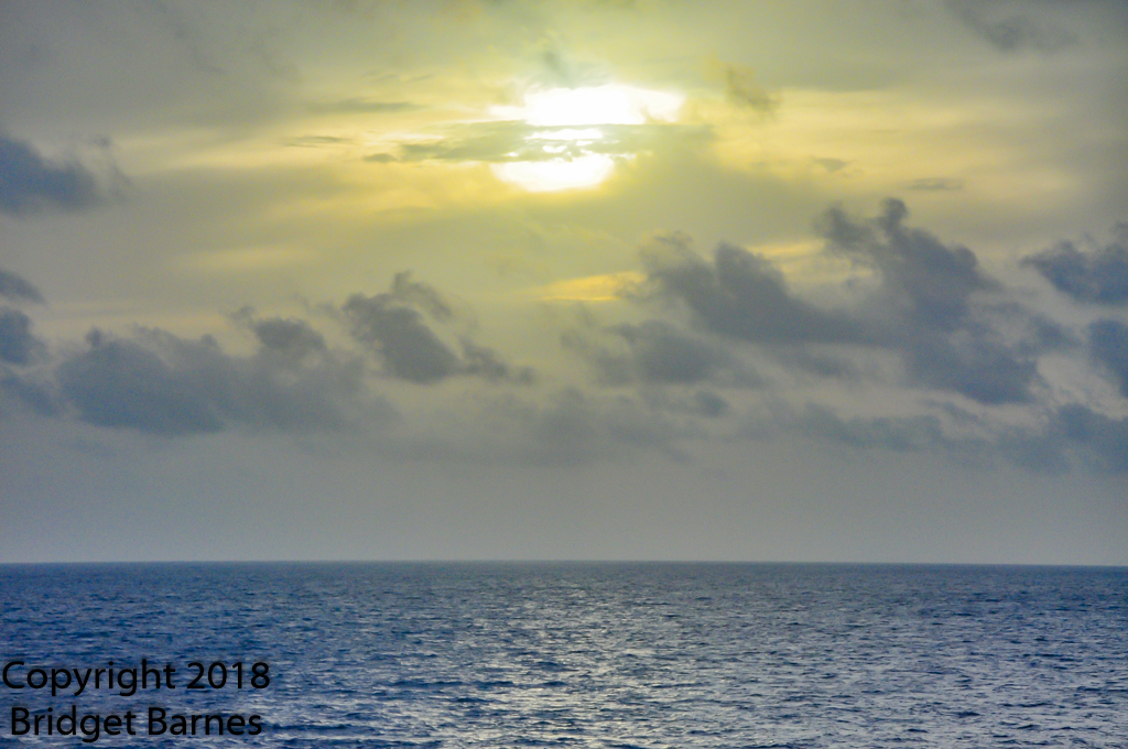 Sunrise over the Gulf of Mexico, 17 June 2018