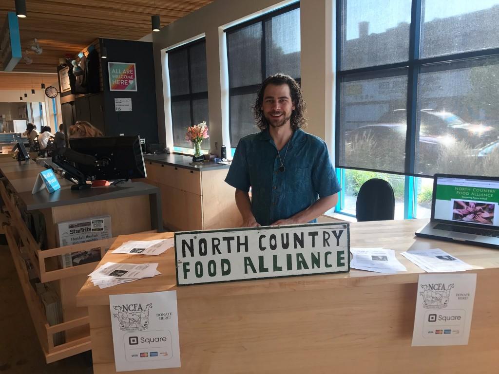 NCFA employee Sasha at the Wedge Co-op.