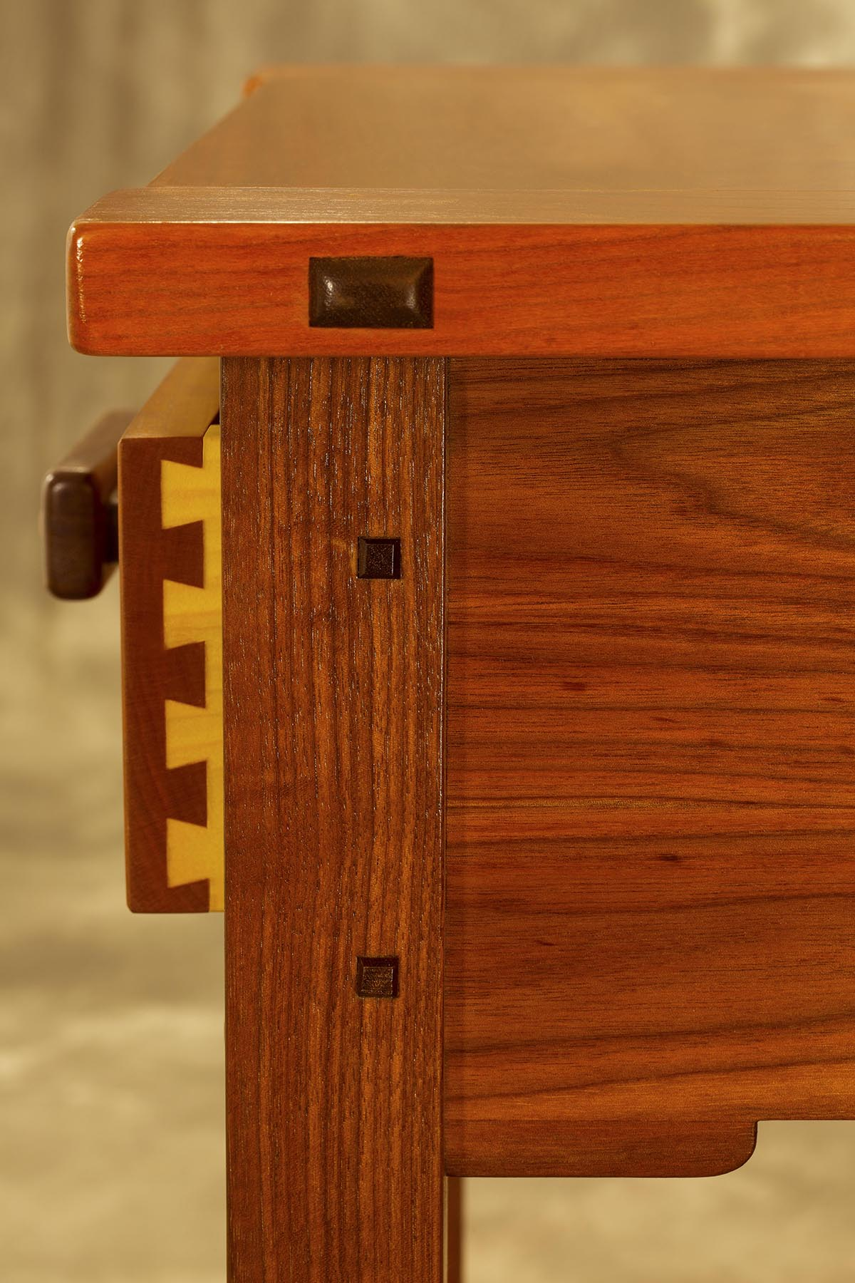 Dovetail Joinery & Button Detail