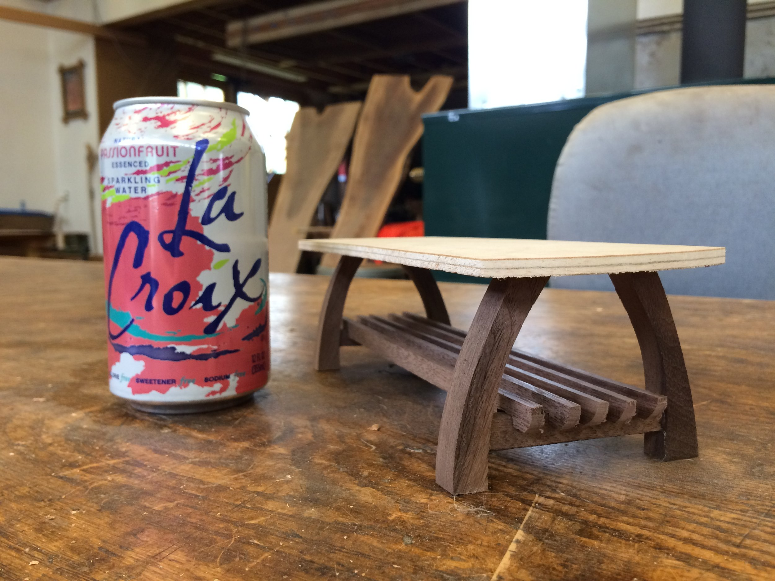 Tiny models (La Croix for scale, and deliciousness) are fun
