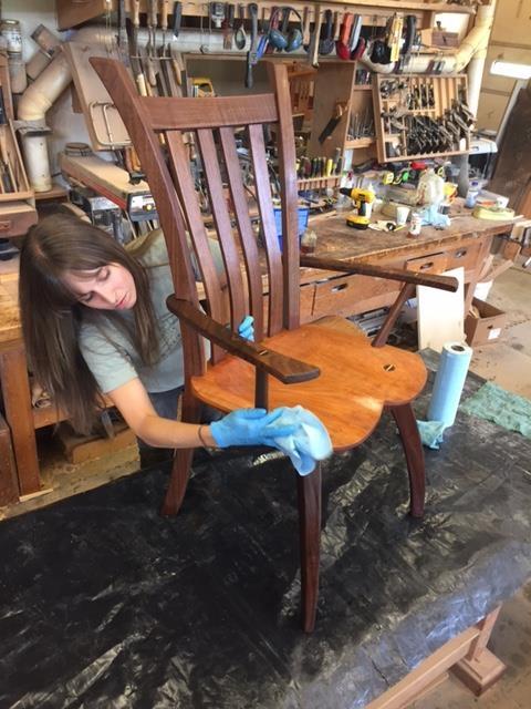 Larissa Oiling Chair.JPG