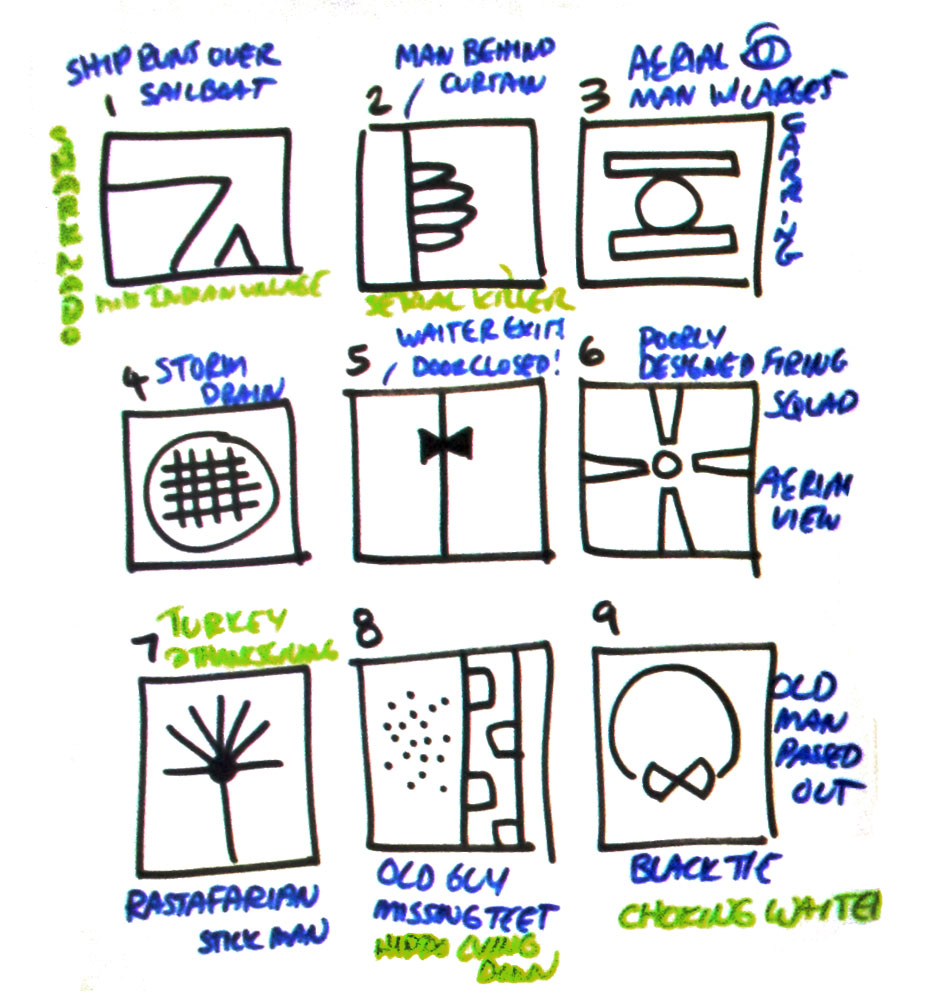 Droodles model creative thinking, abstraction, story telling, and celebration.