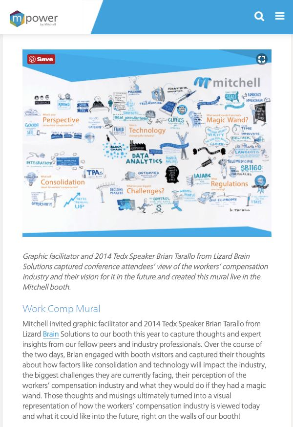Knowledge Wall for Mitchell International at the 2017 National Workers Compensation and Disability Conference.