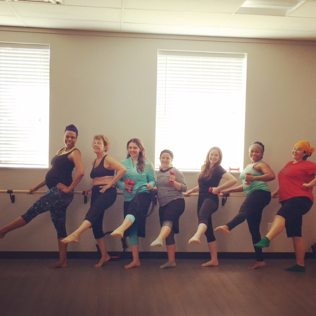 One of my weekly barre classes.