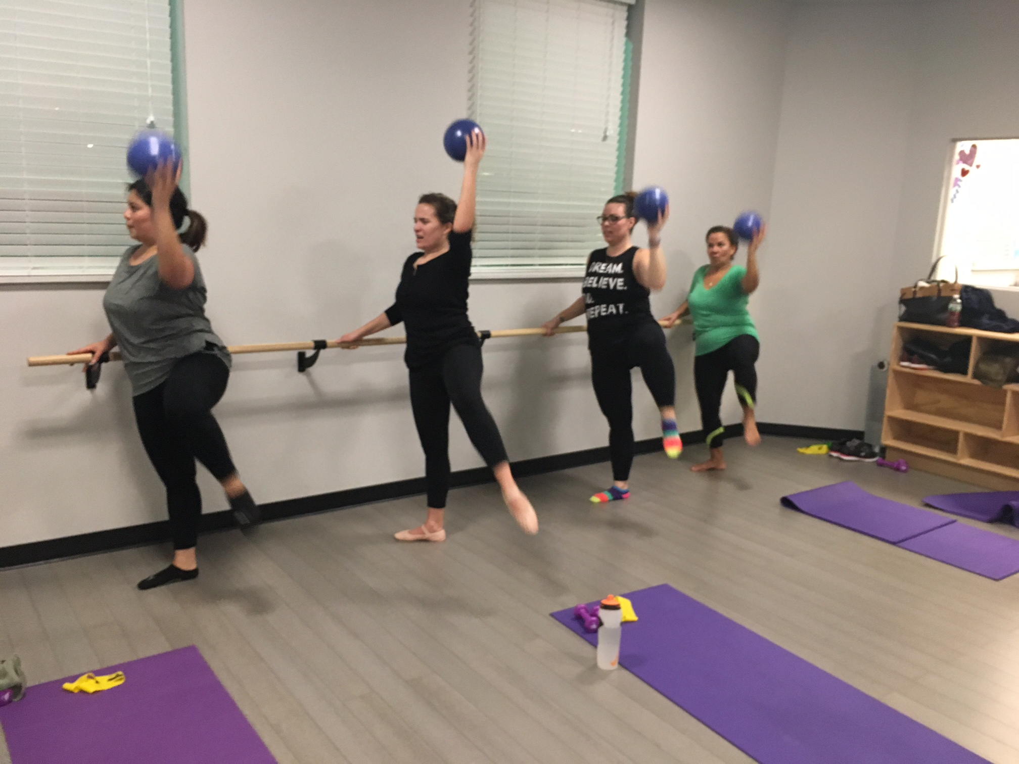 My barre class is an amazing group that offers a good workout and support from other participants!
