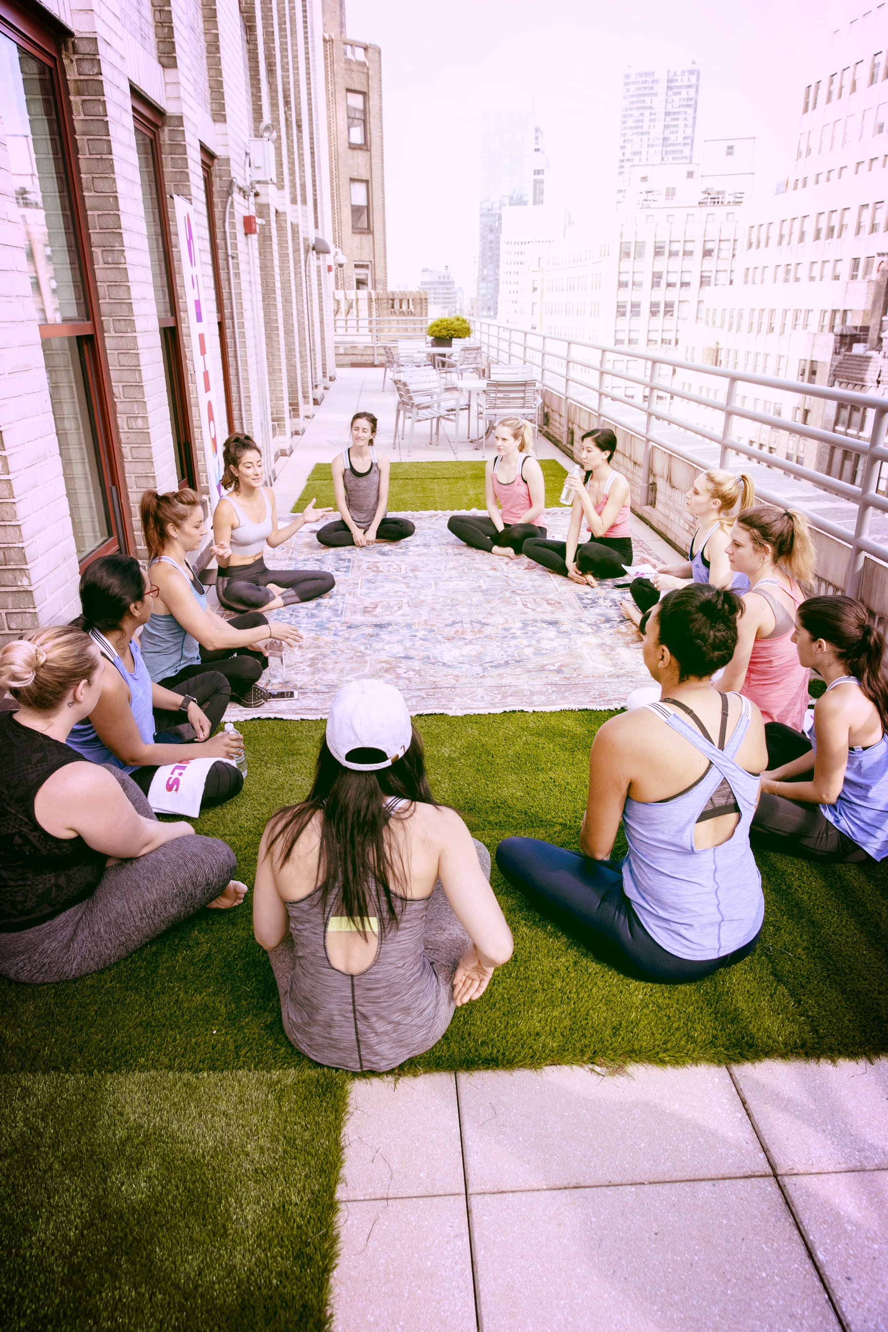 An amazing mediation circle followed our workout.