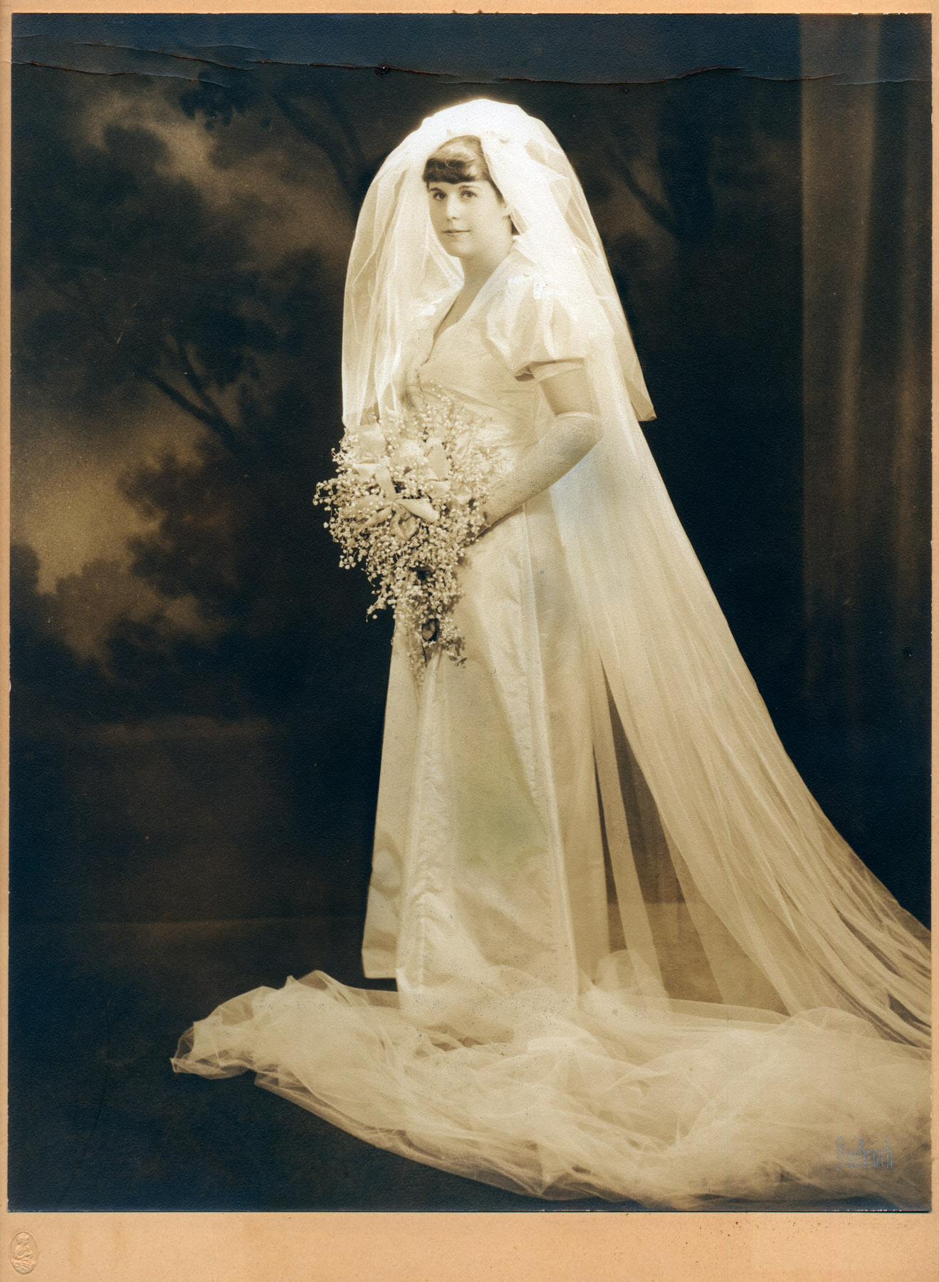 Ruth Fried Rapfogel - Wedding Photo. (1937)