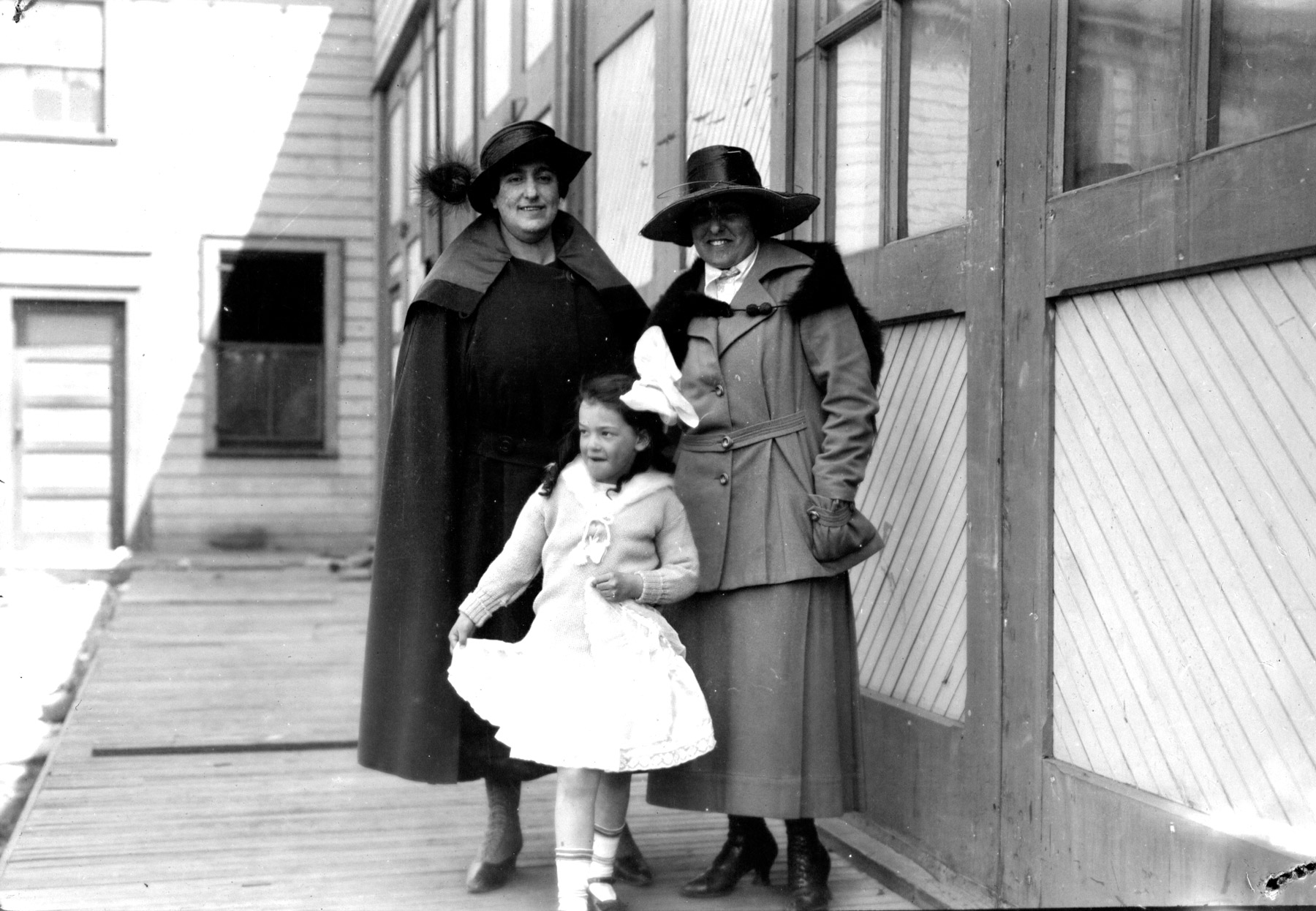 Tina, Bernice & Friend.  (c.1919)